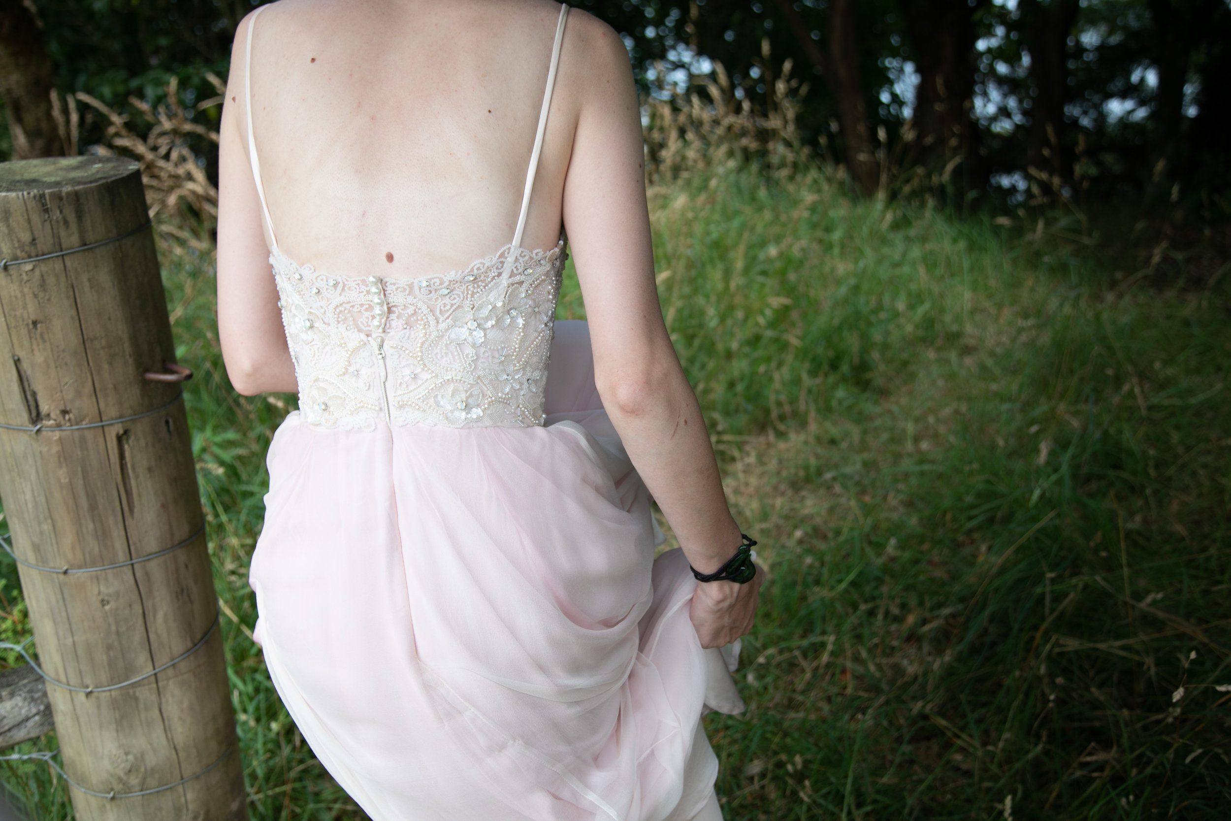 back detail hand beaded wedding dress