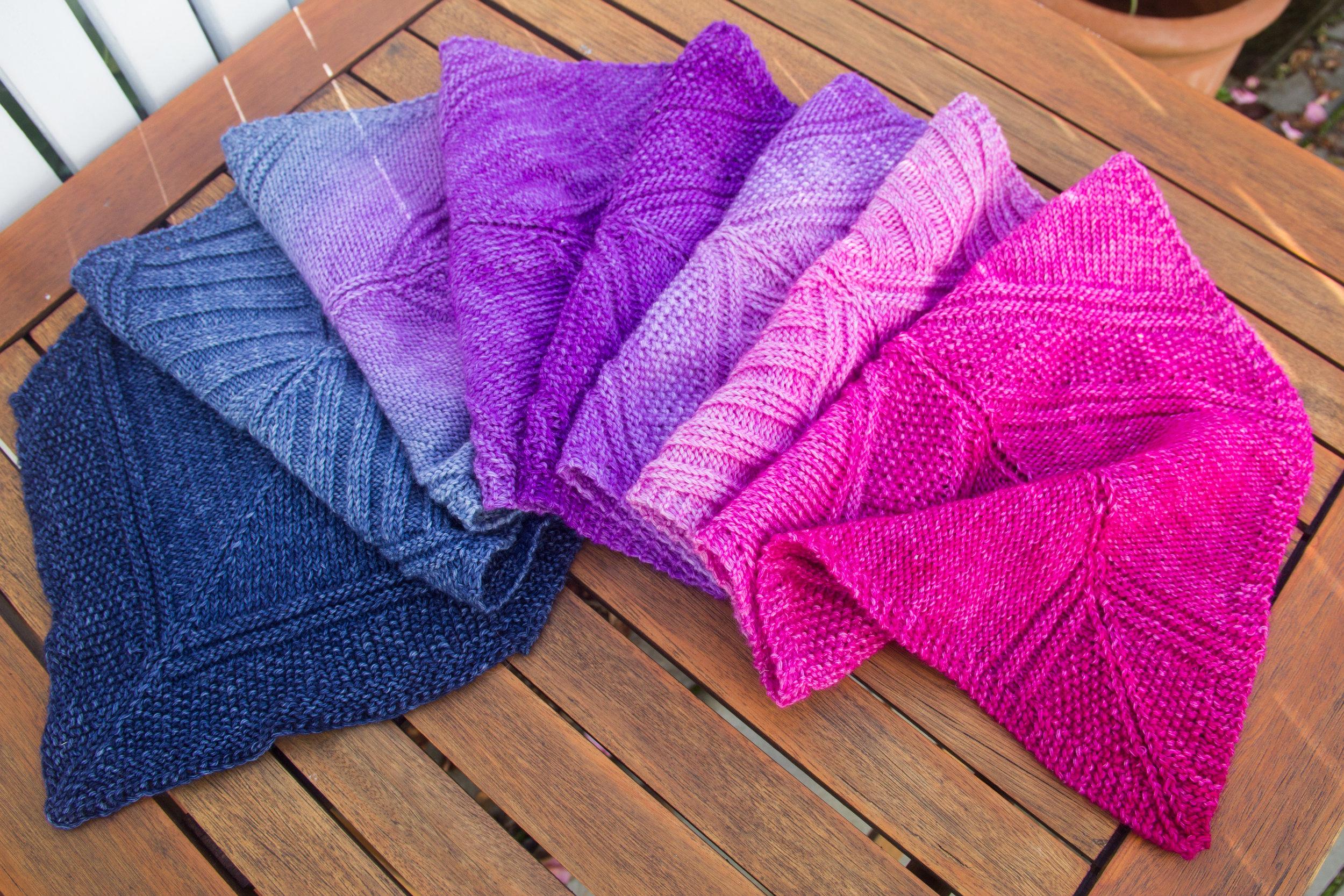 pink purple gradient scarf