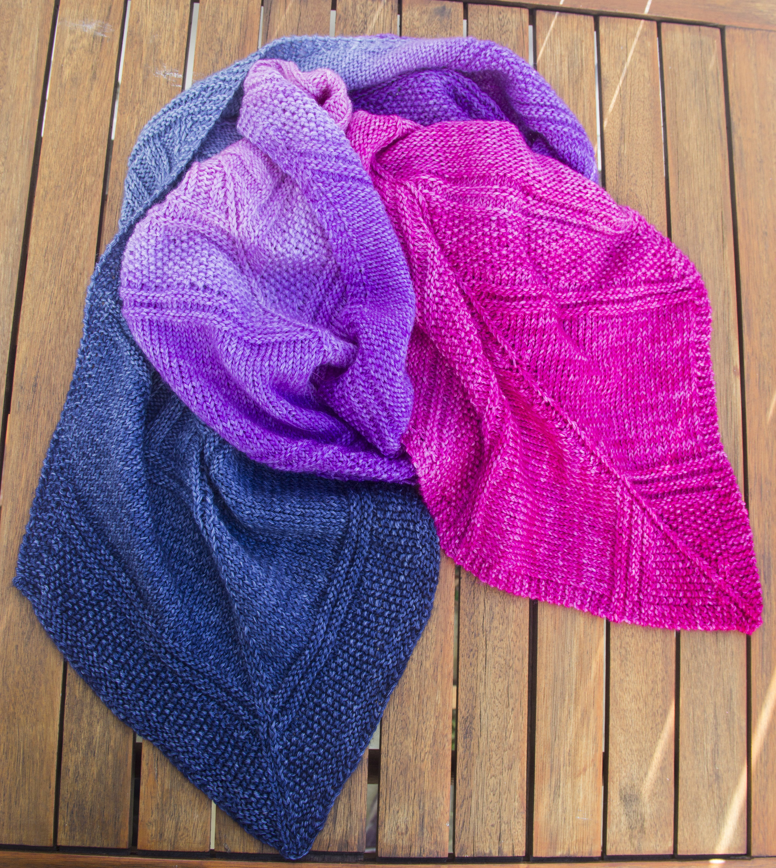 hand knit scarf man made fibre