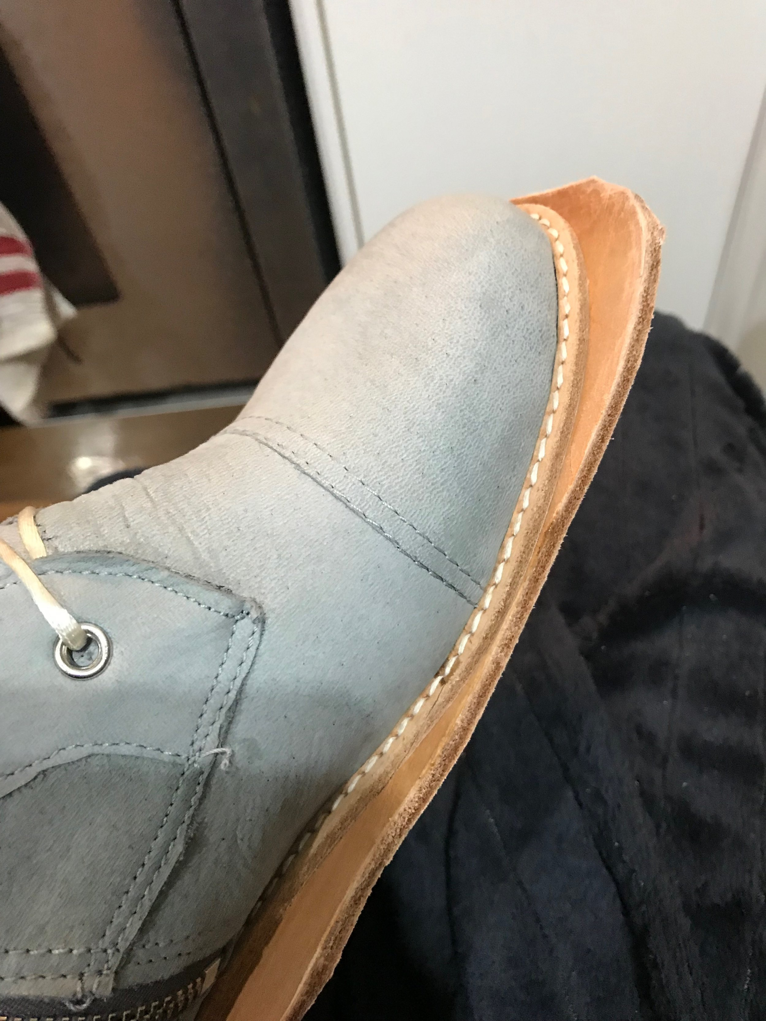 rough attached midsole