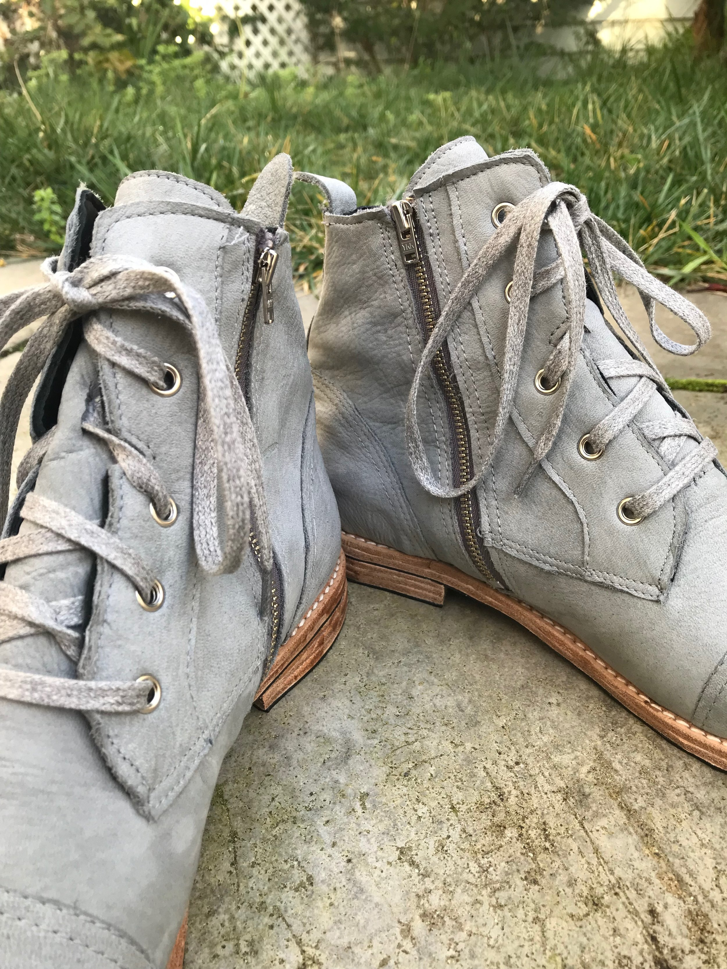 make leather zip boots