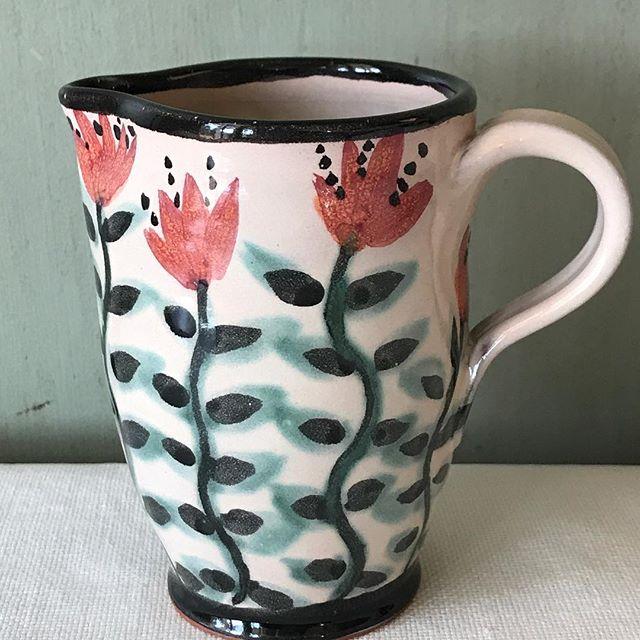 tiny cream pitcher. #stocking stuffer #creampitcher #pottery #majolica #farmtotable