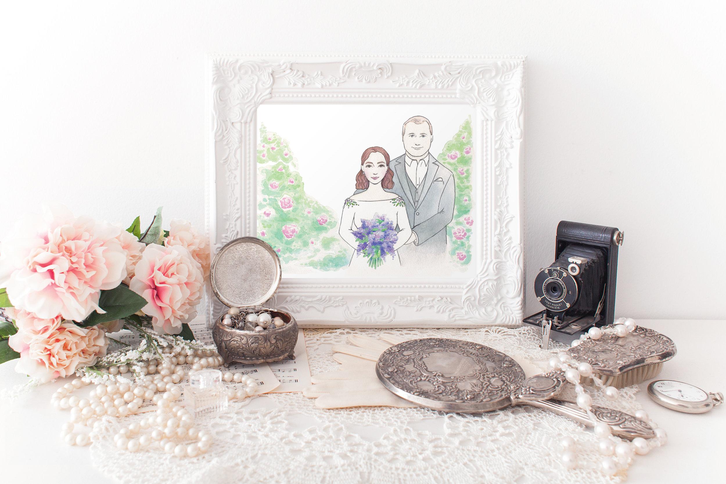 Botanical-Garden-Wedding-Art-Vintage-Couples-Portrait-Watercolor-Luminous-Creative-Studio.jpg