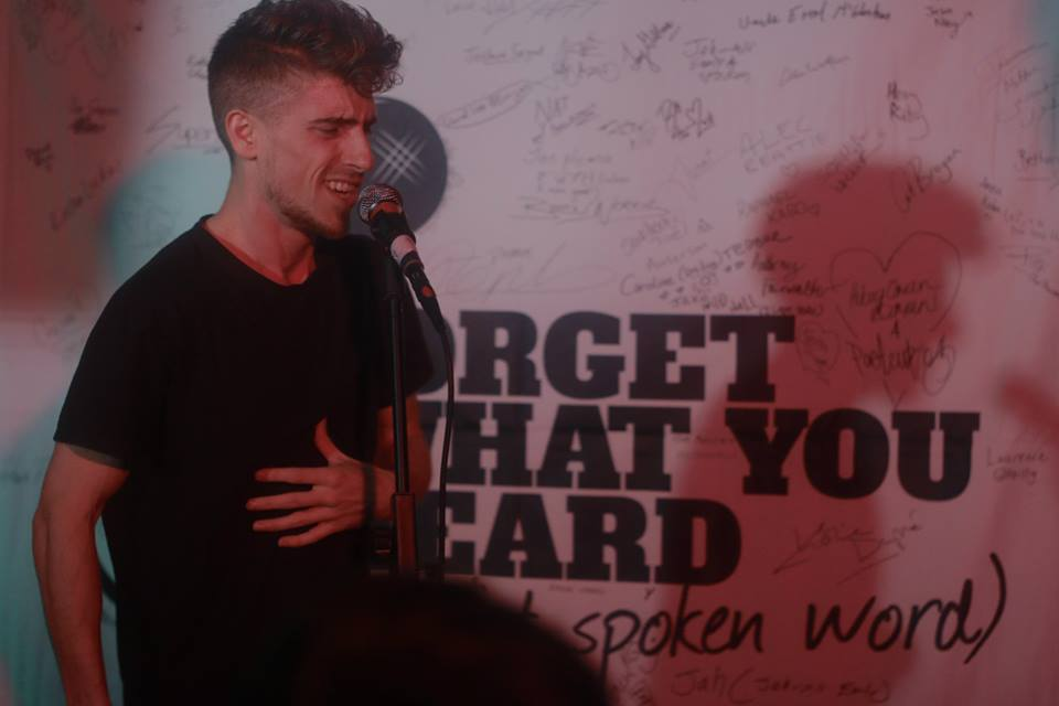 Rik hosting his regular spoken word night - Forget What You Heard (About Spoken Word).