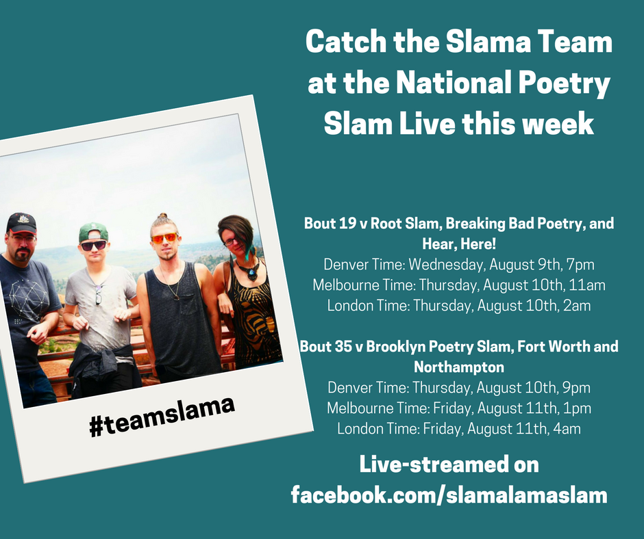 Team Slama's bout schedule