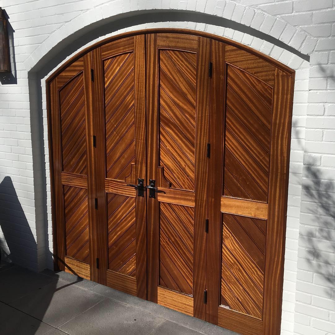 Sapele double doors. One of seven.