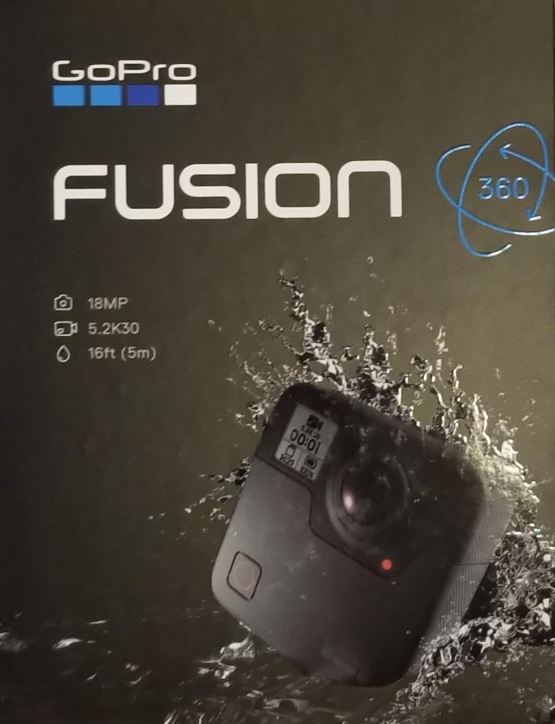gopro fusion 360 virtual reality camera box