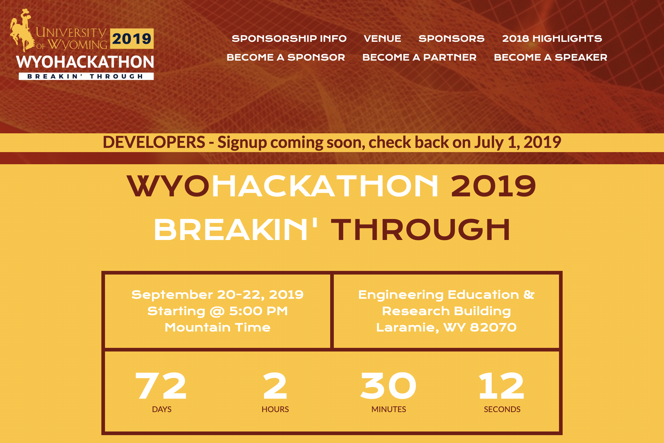 university of wyoming hackathon 2019 blockchain dlt