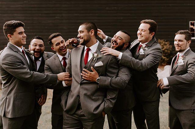 Matching socks and matching smiles for all!! 🙃🇺🇸🤵🏻 . #georgiawedding  #barnwedding  #agroomandhismen . 📸: @madalouise