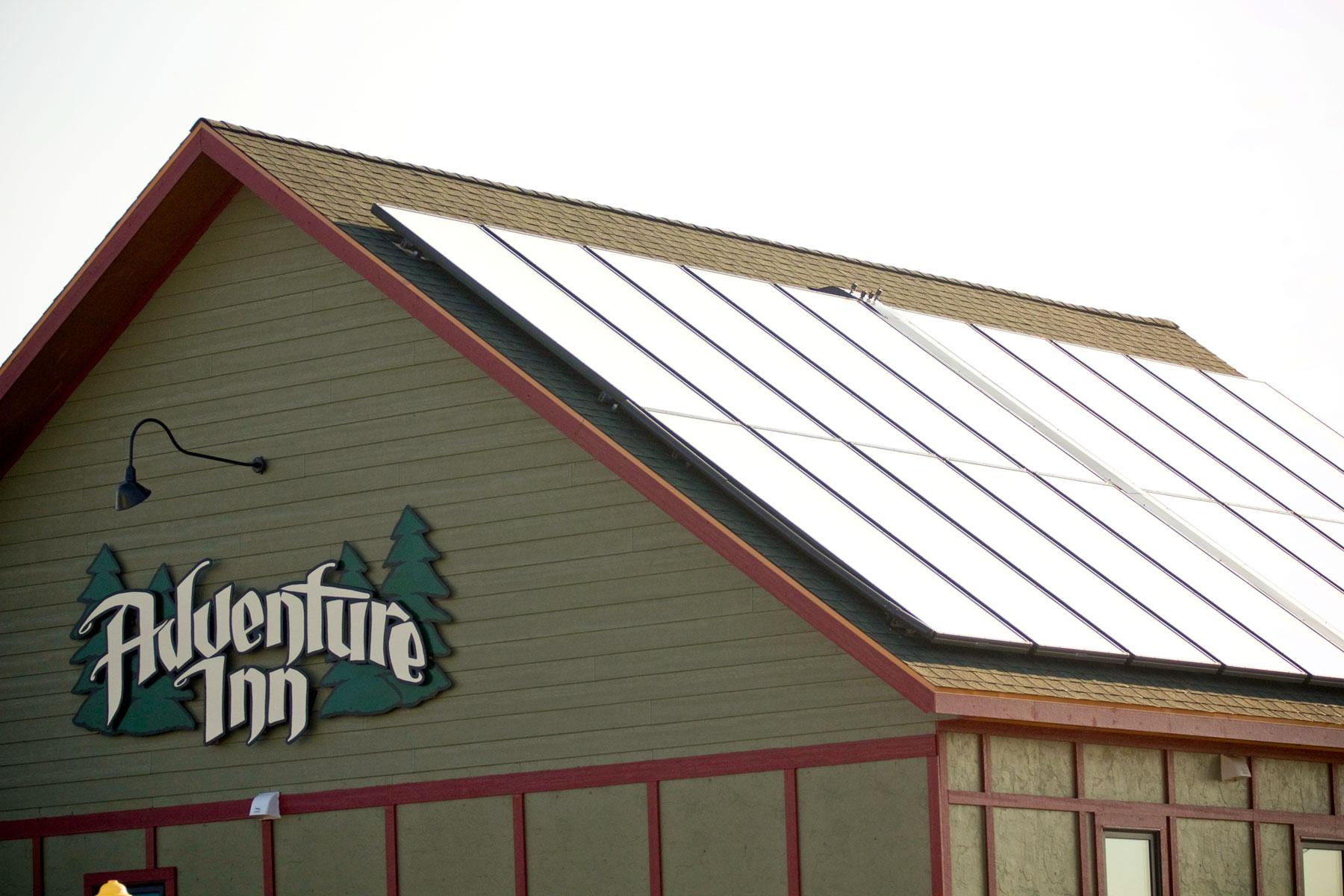 Solar Panels on the main building of the Inn