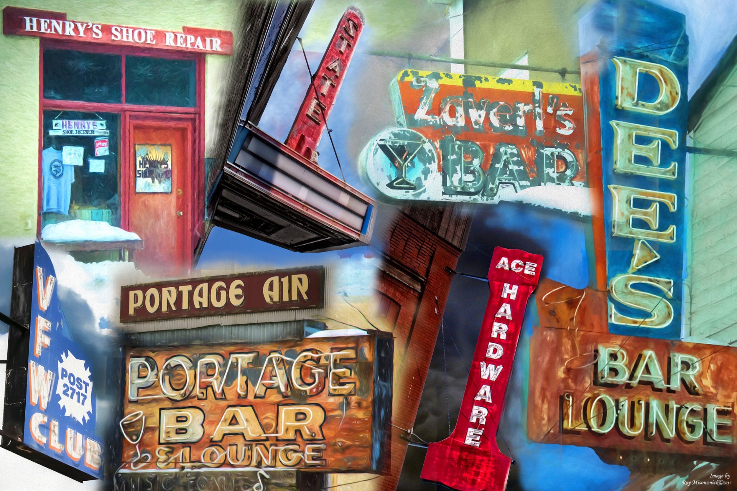 Downtown Ely Historic Signage Artwork/Photography by Roy Misonznick
