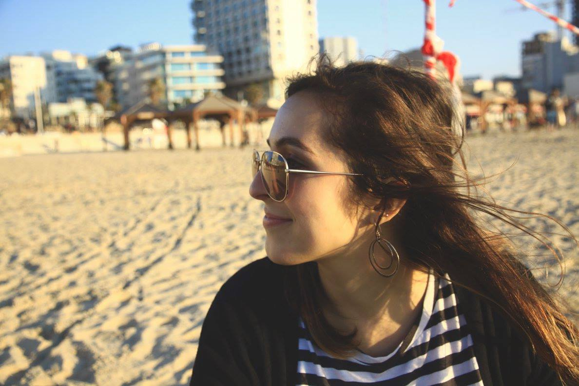 Maddy on a Beach in Israel , photo by Emily Teters