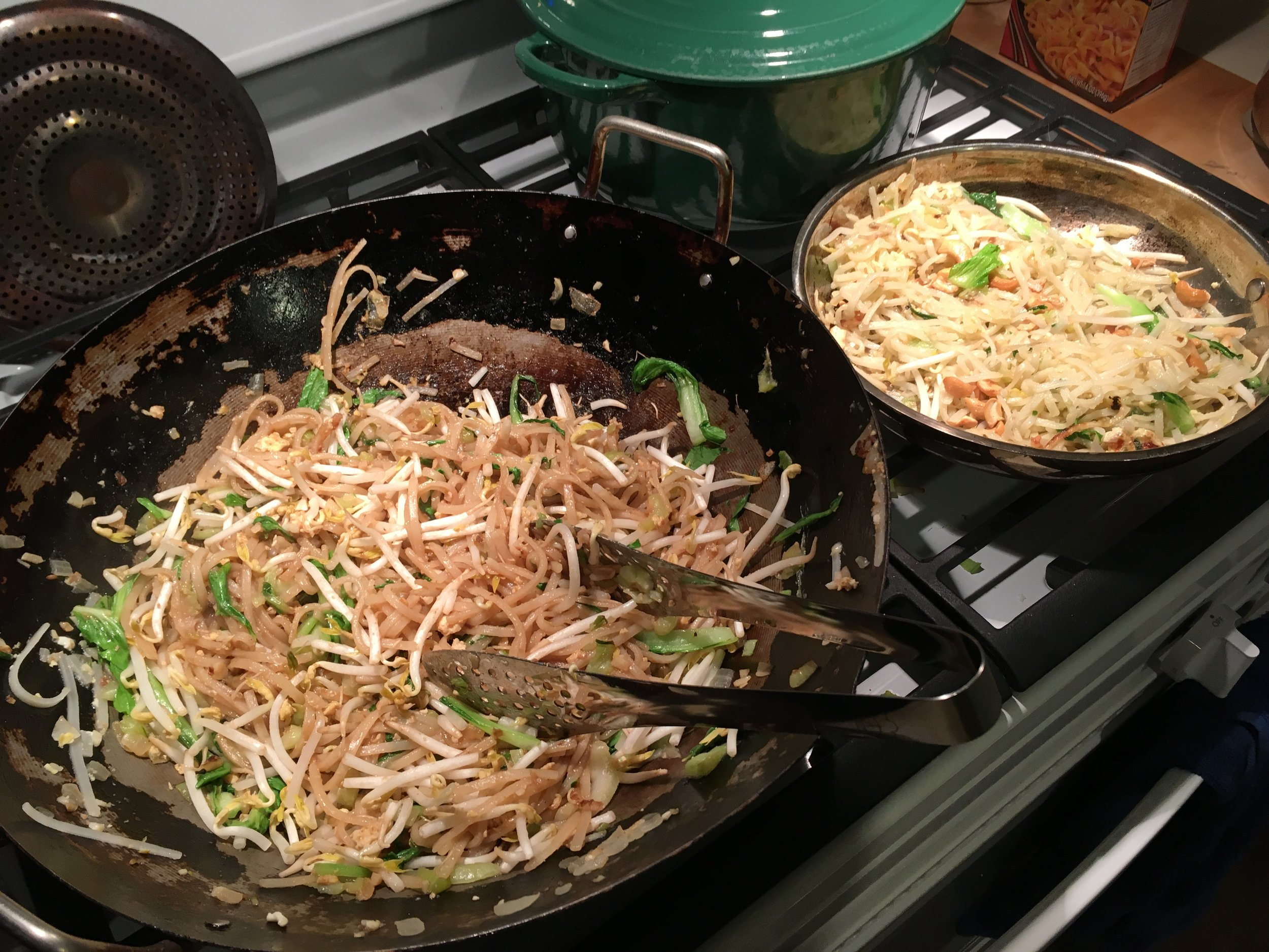 When friends who are Karen and who have lived in a refugee camp in Thailand for 20+ years are coming for Thanksgiving dinner, it makes absolute sense that Pad Thai should be on the menu!