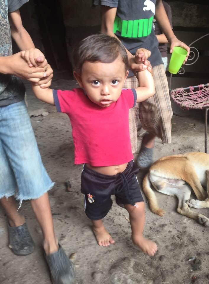 Miguels namesake Miguel - almost walking - Honduras.jpg