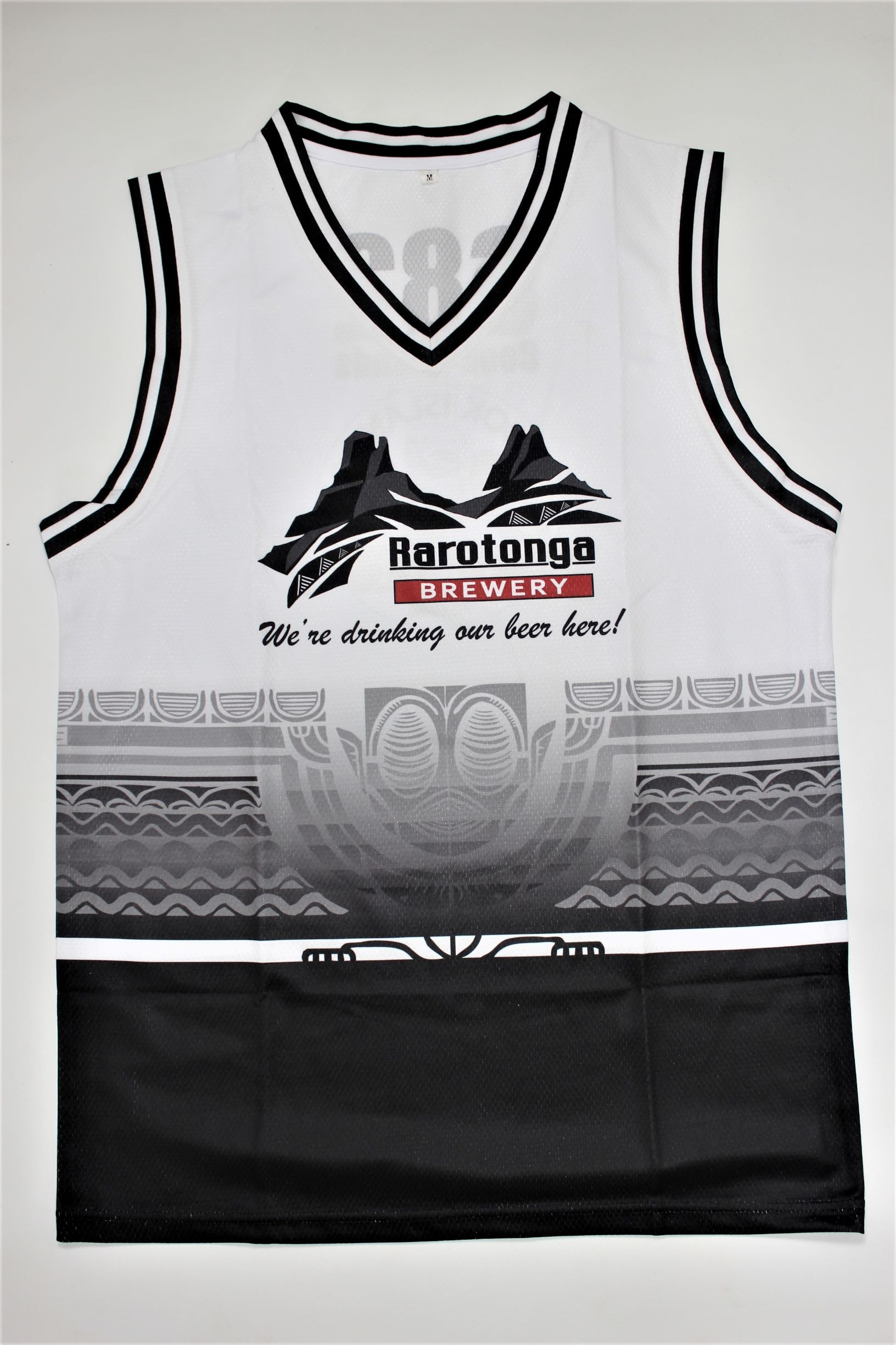 Sub-laminated singlets   Stylish design, and lightweight, breathable material. Perfect for Rarotonga's beautiful warm weather!