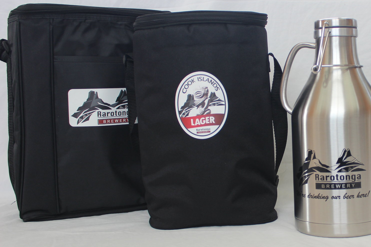 Cooler Bags   Heading out for a day at the beach? These insulated cooler bags will keep your beers cold on the hottest of days here in Rarotonga