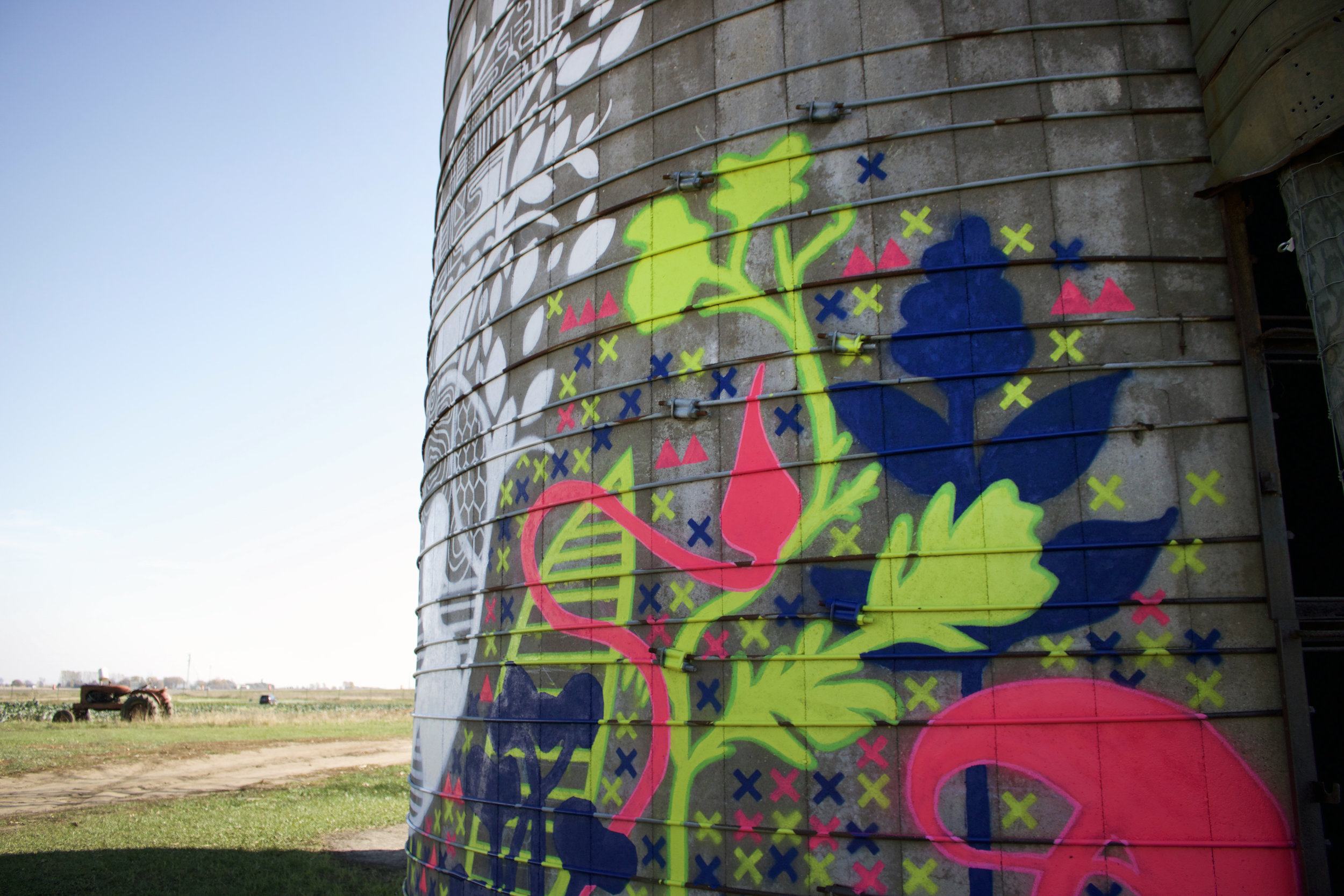 Plant details from the mural located on the HAFA Farm in Hastings, MN.