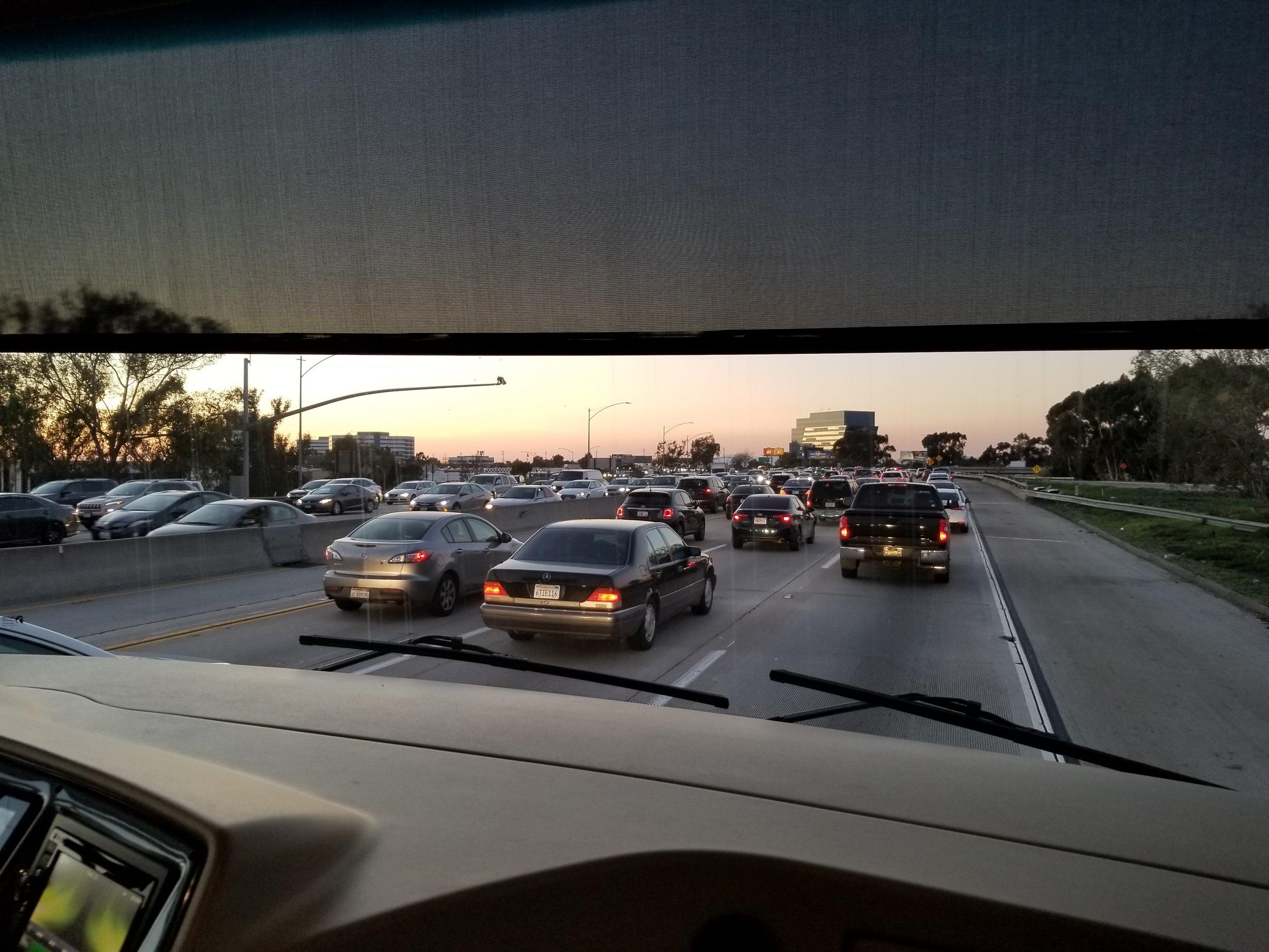 We hit traffic in LA!!! Surprising, I know :)