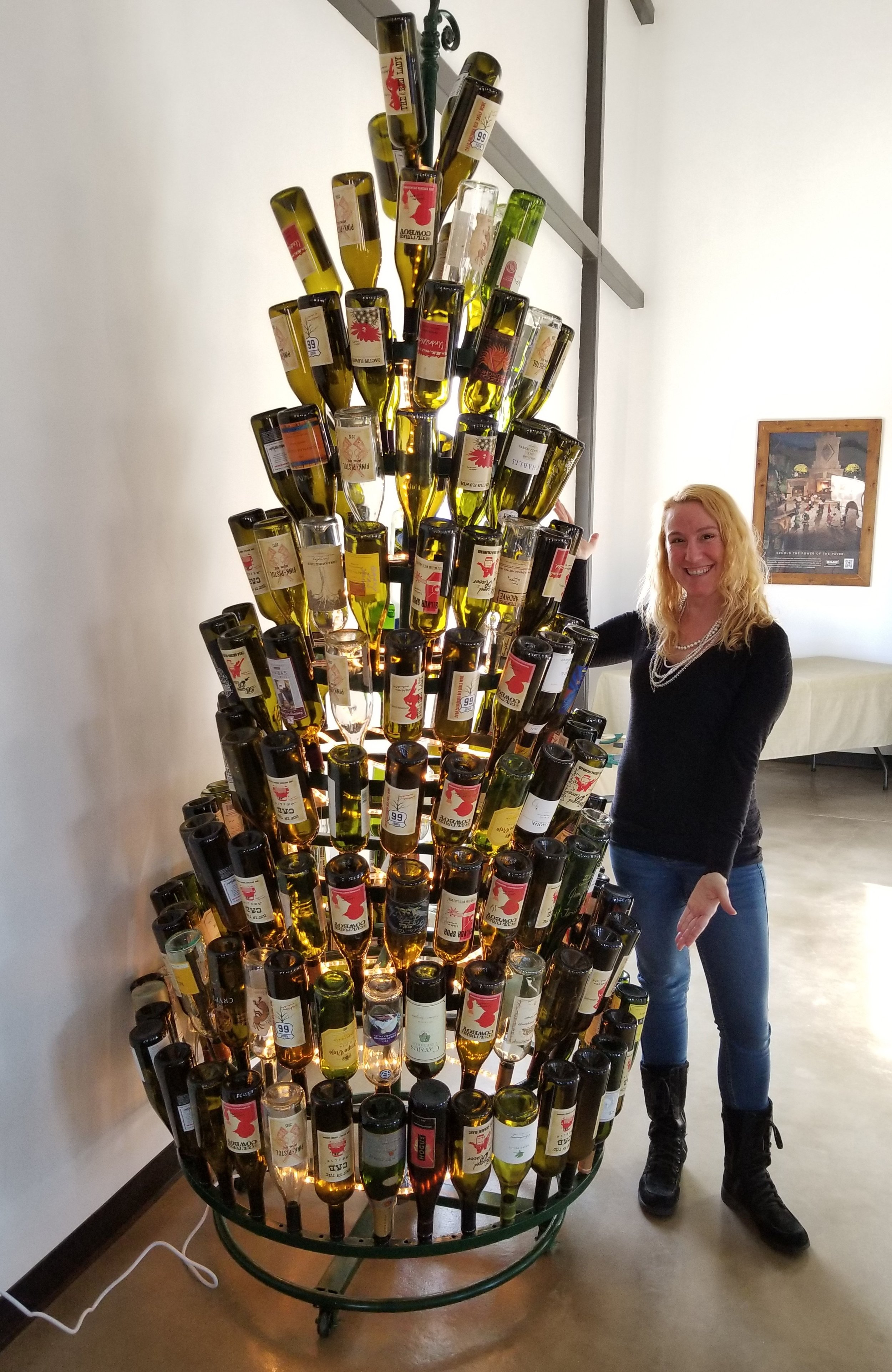 I loved this tree made out of wine bottles