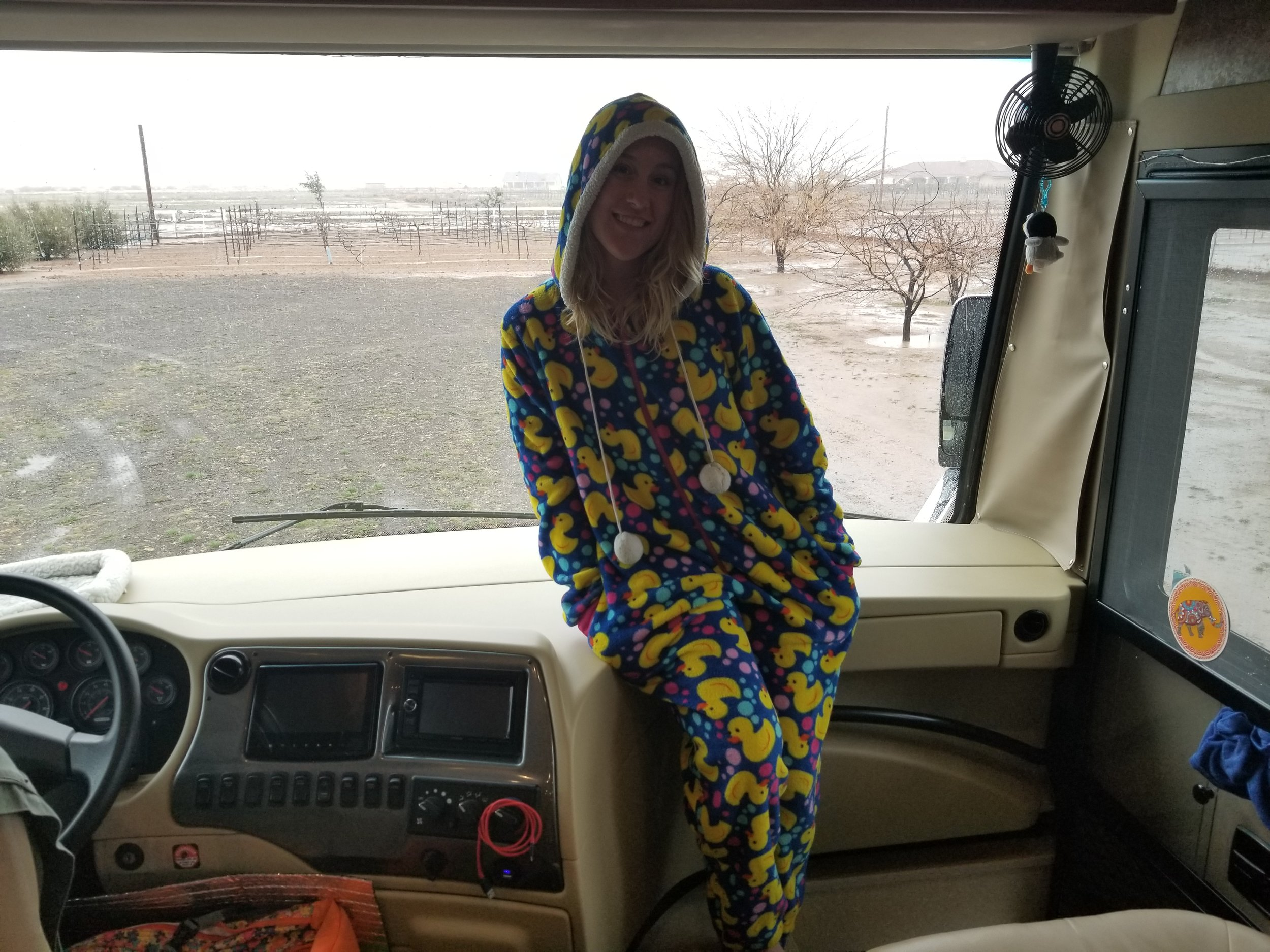 Sometimes you have to put your onesie on to stay warm