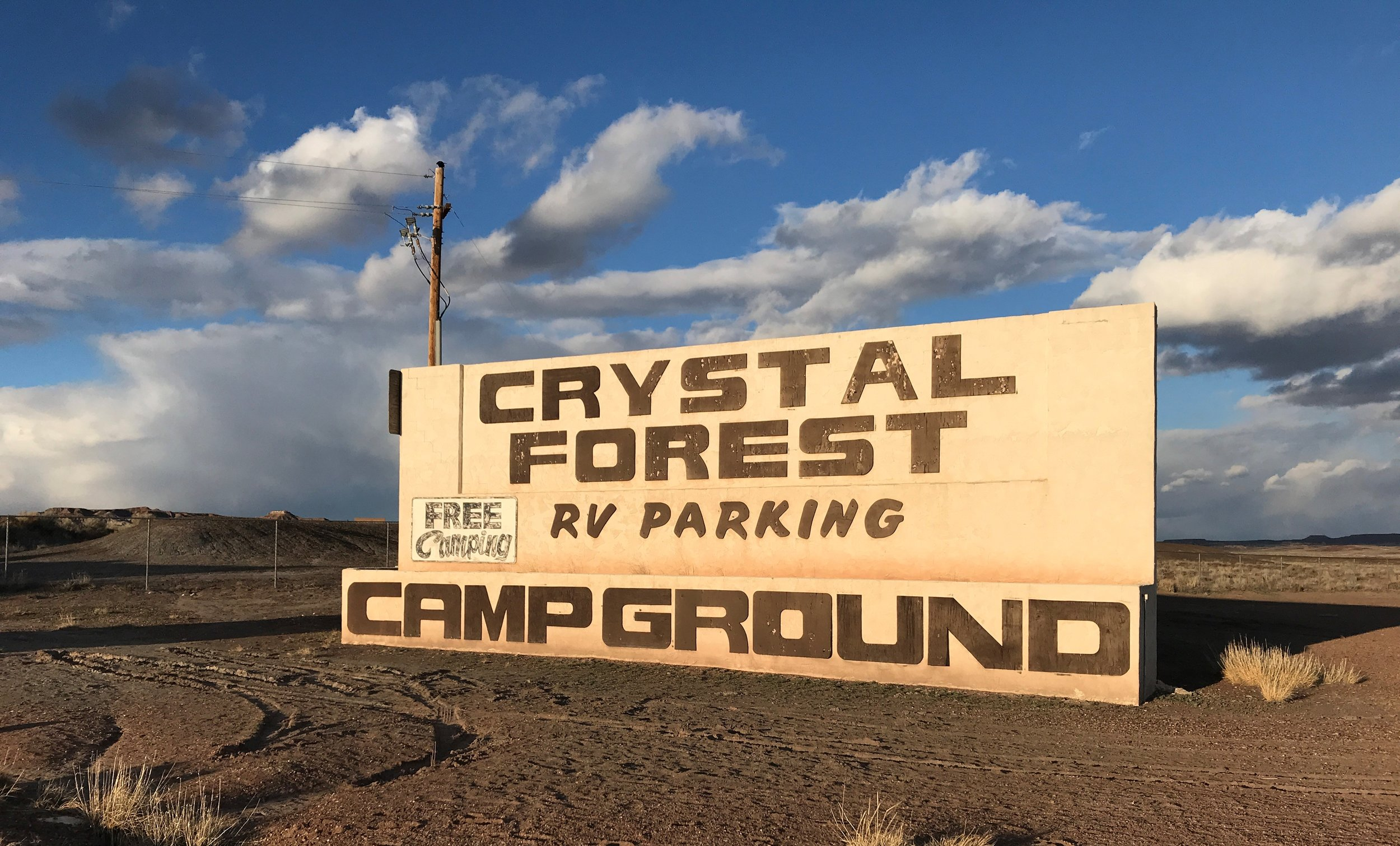 Free overnight camping in the parking lot