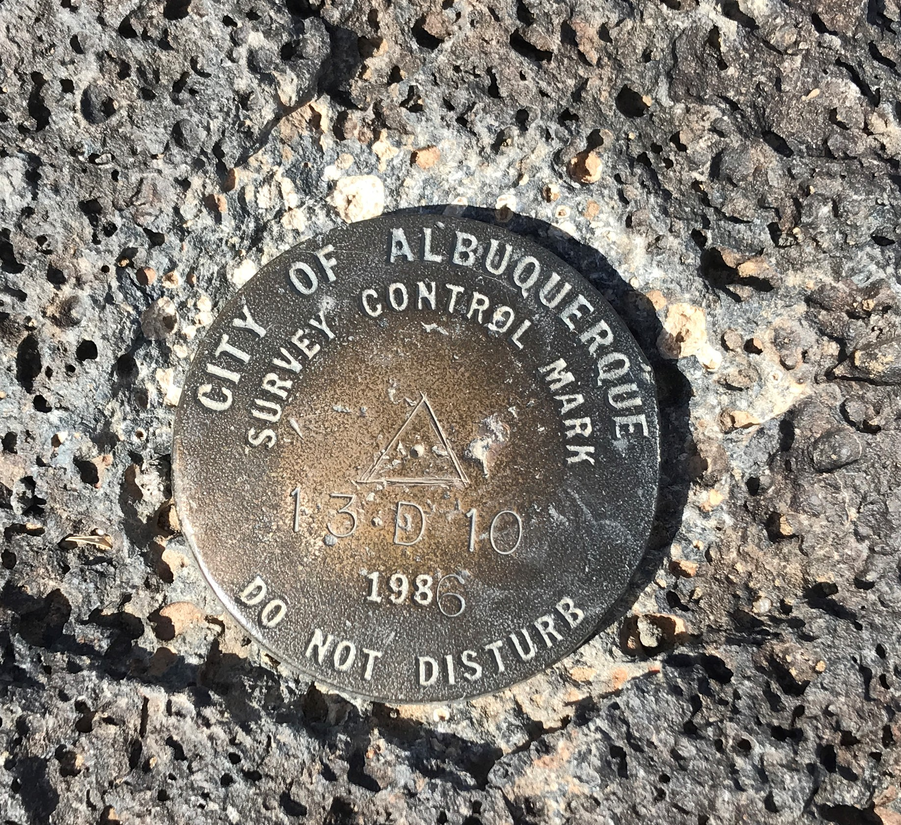 Boca Negra Canyon. Our second survey mark. We found one in the Grand Canyon. How many will we find on our adventures?