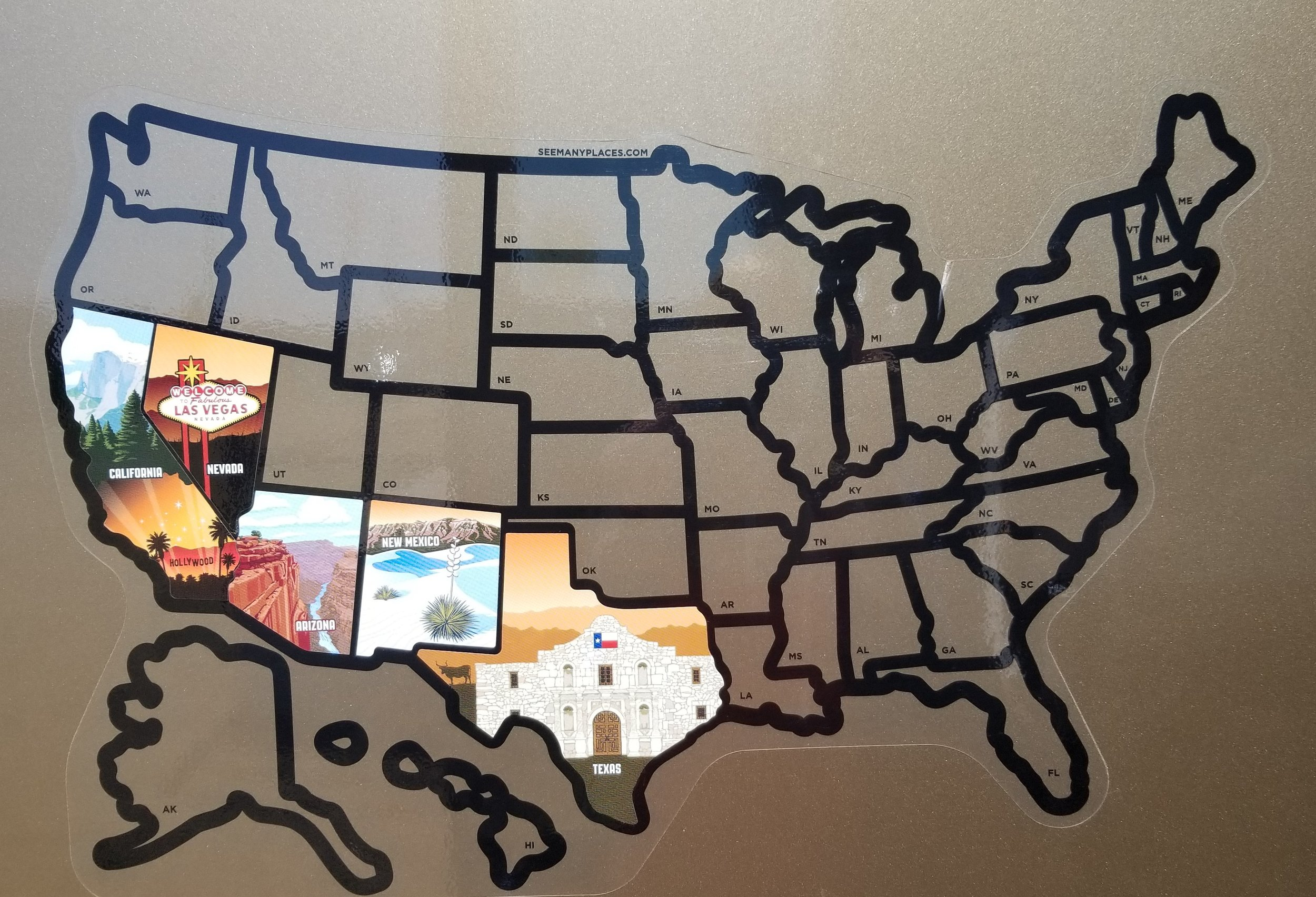 Here is how the map is filling in.. not bad for 2 months on the road!