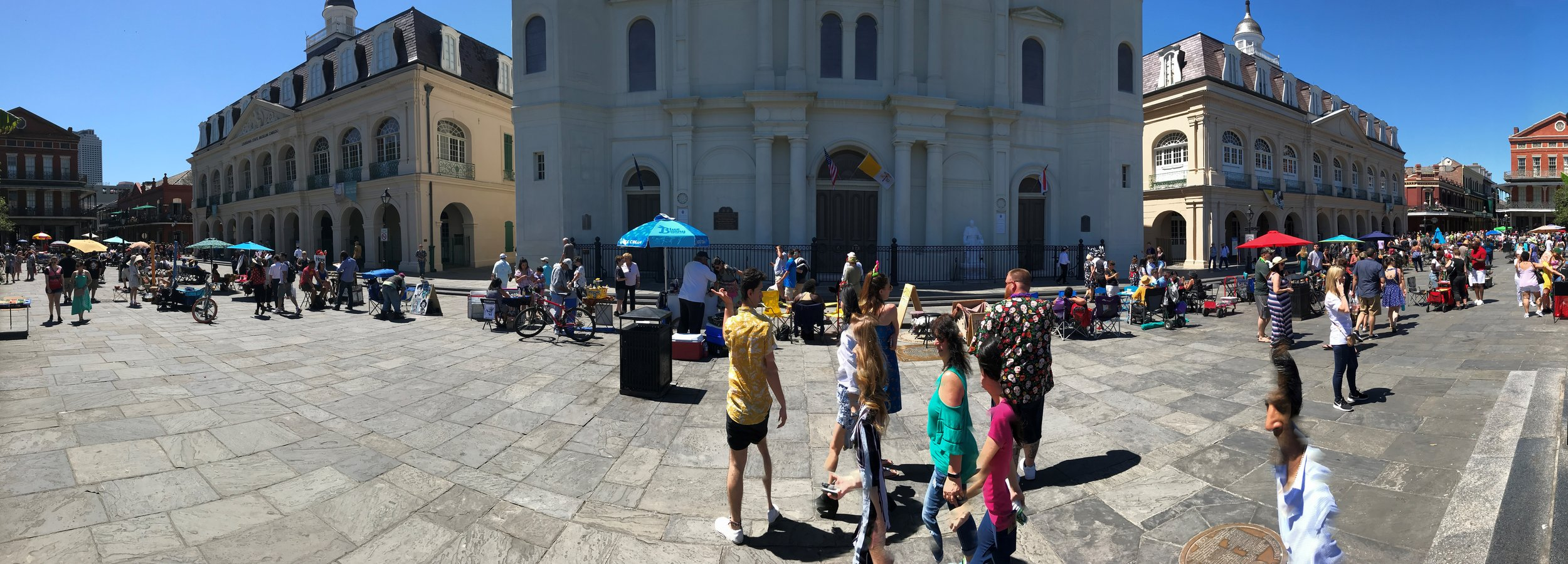 Panoramic of St. Louis Cathedral