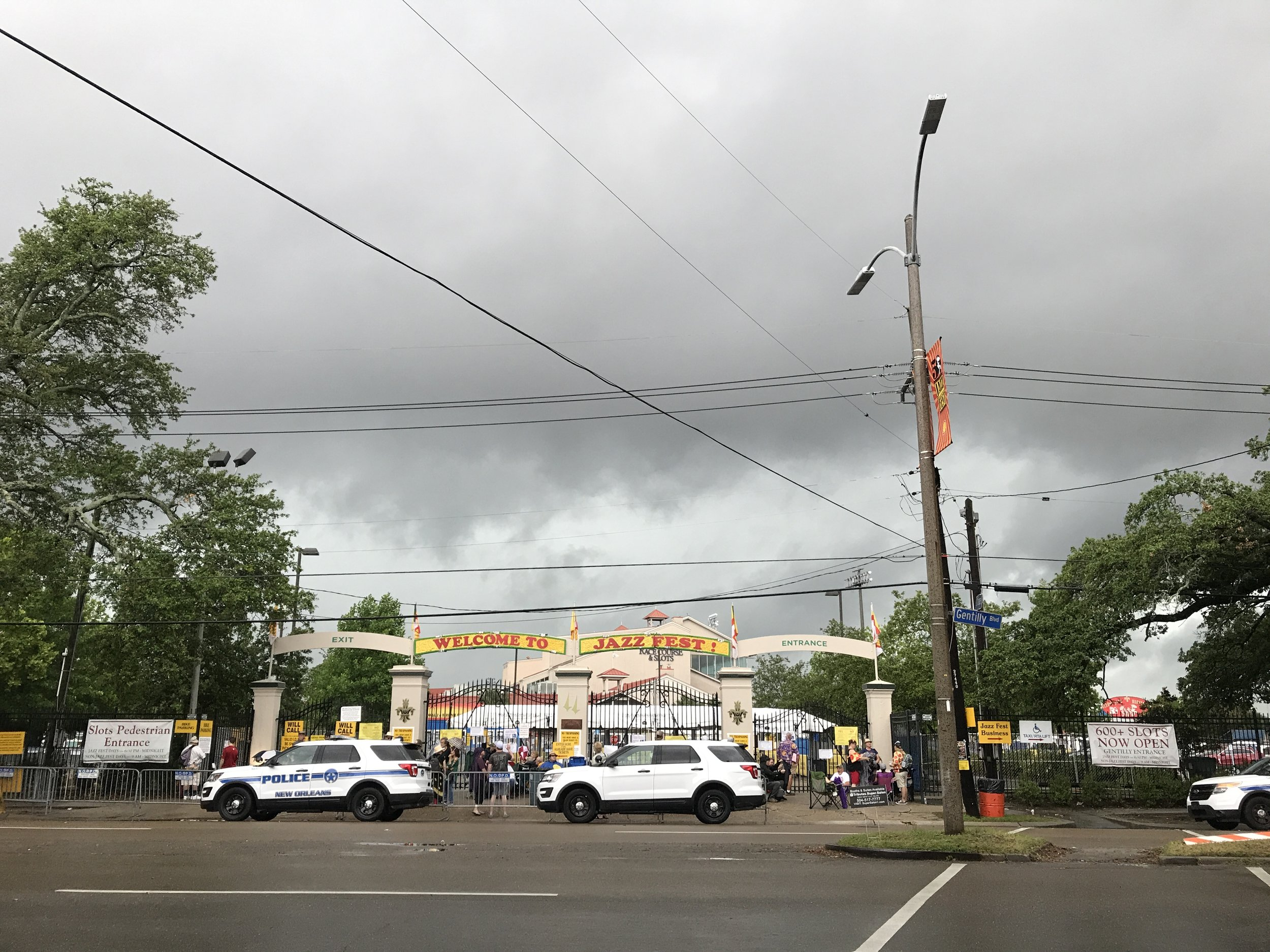 The storm preventing Jazz Fest from starting