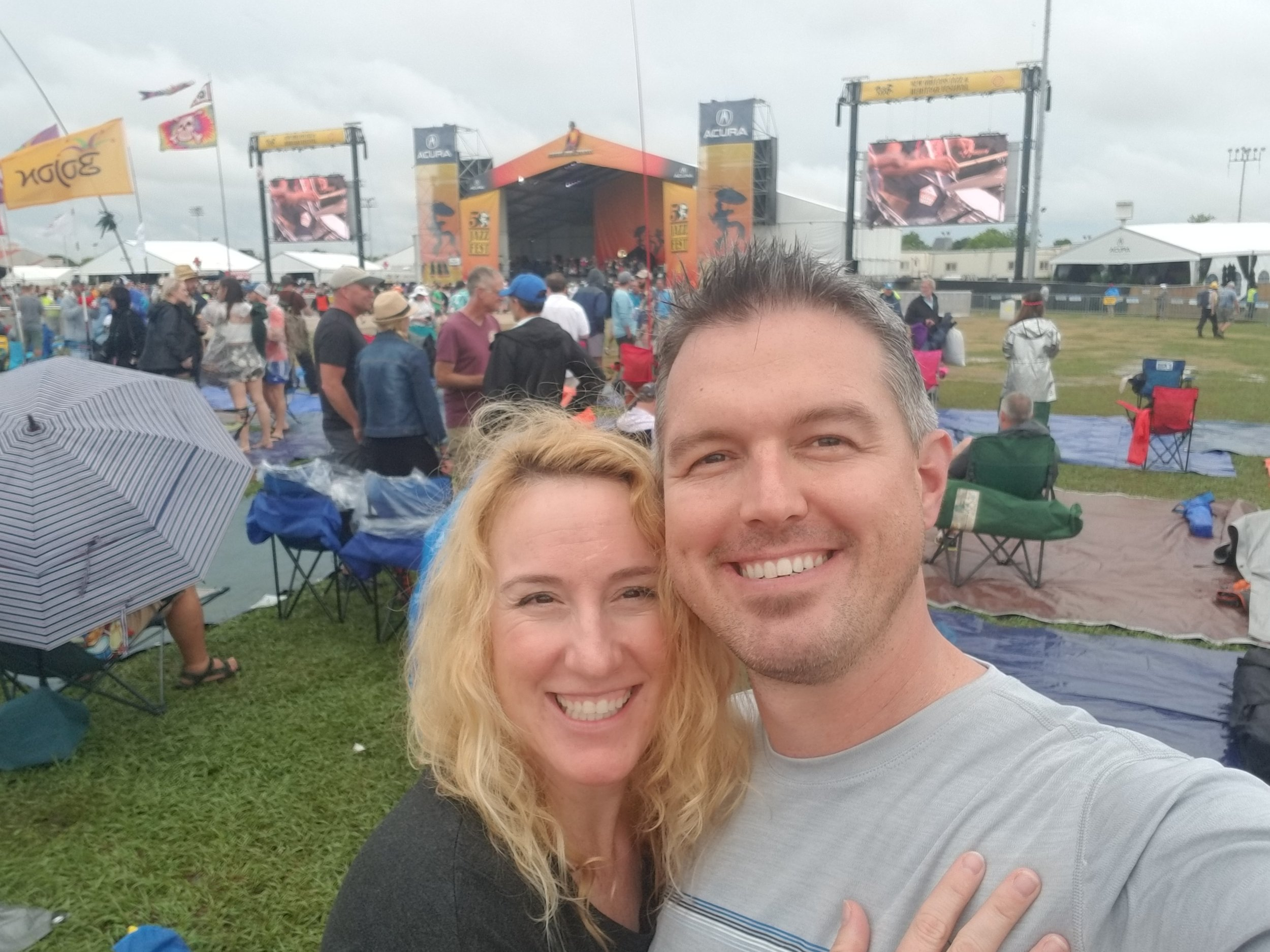 The storm passed and we were in for weekend two of Jazz Fest