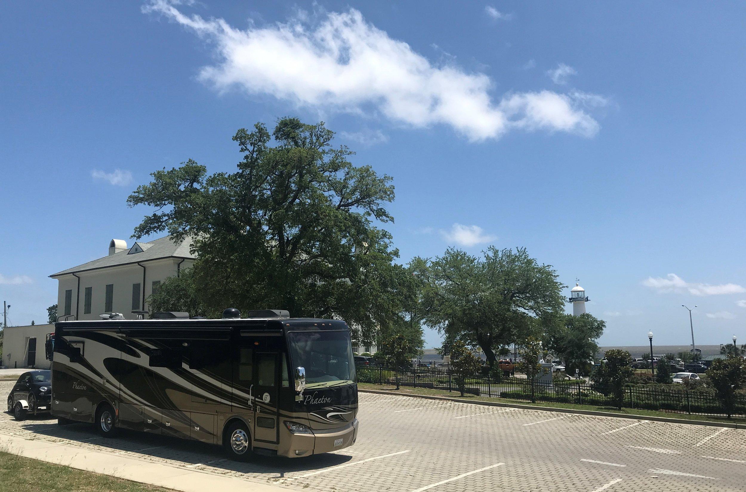 The Biloxi Visitor Center, Lighthouse and beach