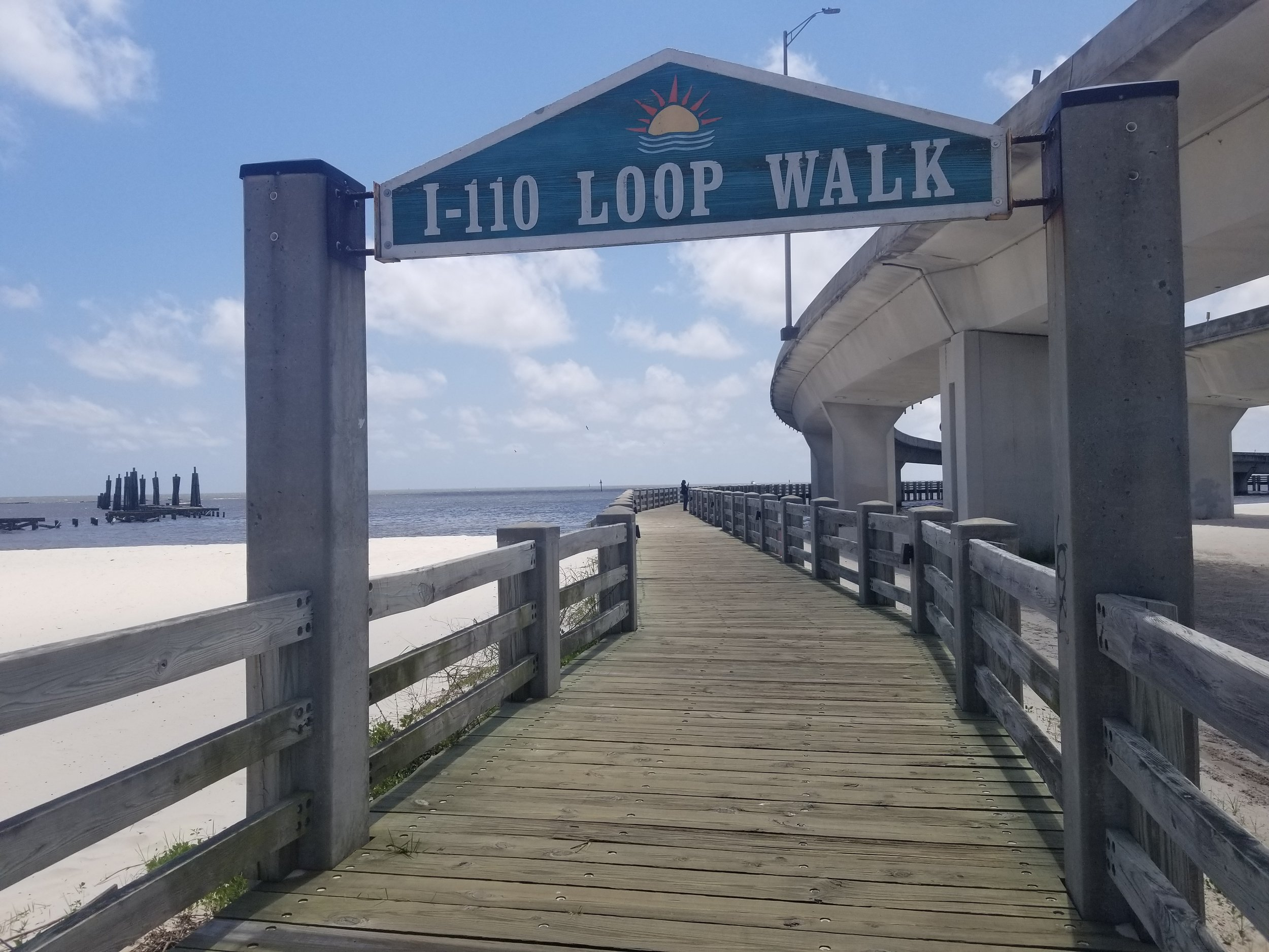 We walked from the Biloxi Visitor Center to the Beau Rivage Casino along this boardwalk