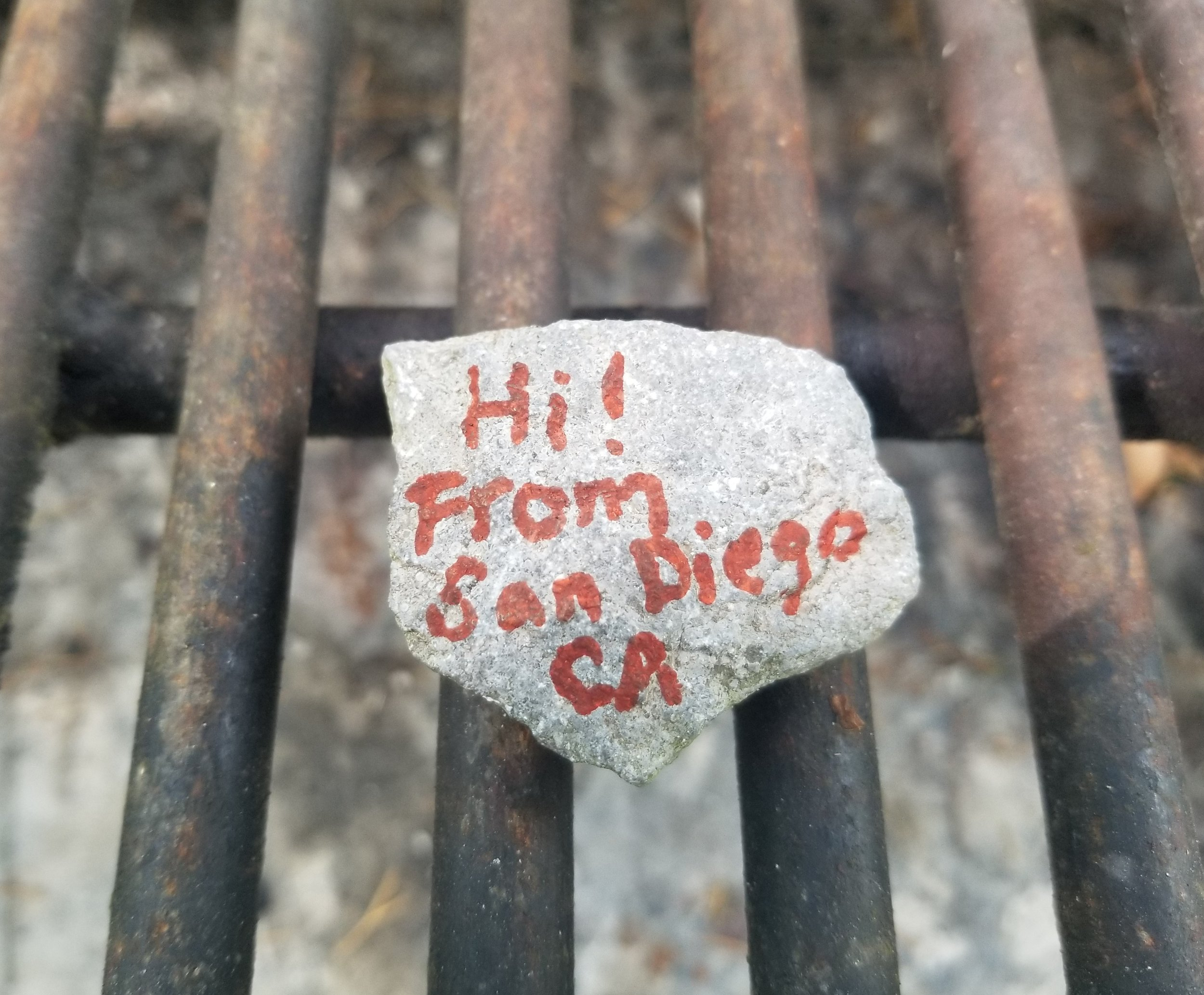 We continued the tradition and left a rock for the next guest