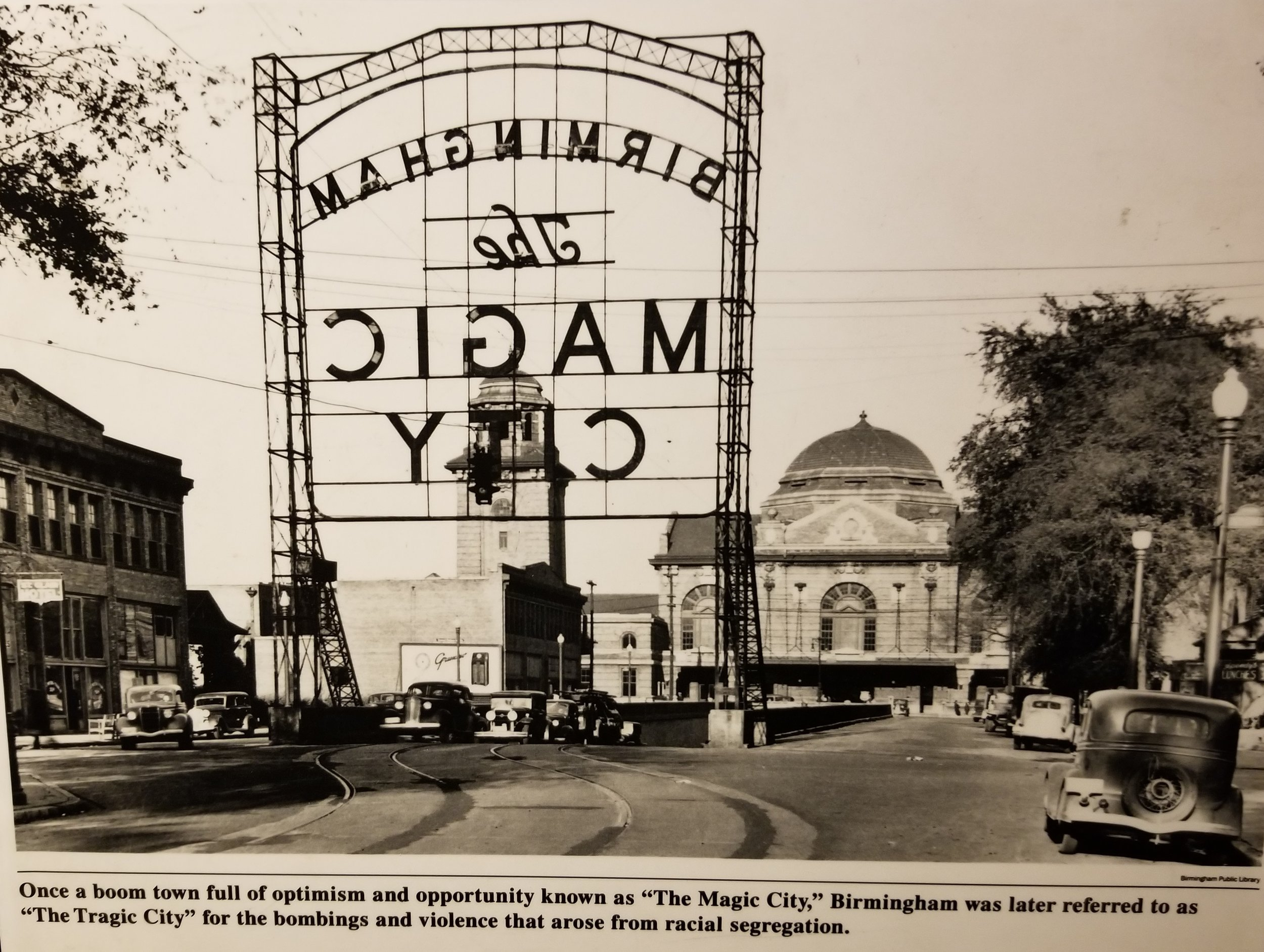 "From the  Birmingham Civil Rights Institute . To me this caption really captured what happened in Birmingham. ""Once a boom town full of optimism and opportunity known as ""The Magic City,"" Birmingham was later referred to as ""The Tragic City"" for the bombings and violence that arose from racial segregation."""