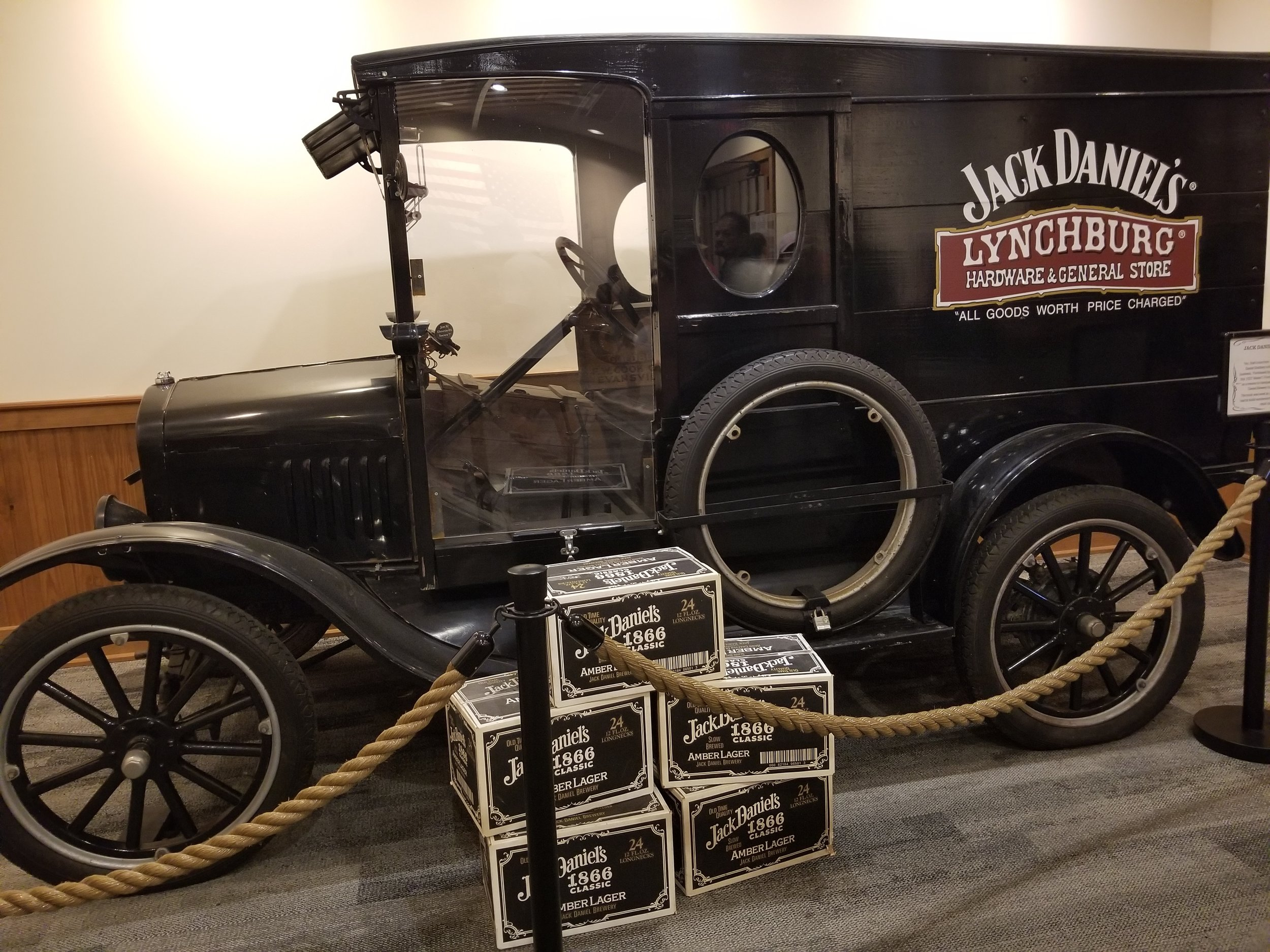 Jack Daniel's used to also brew beer and this was a delivery truck back in the day.