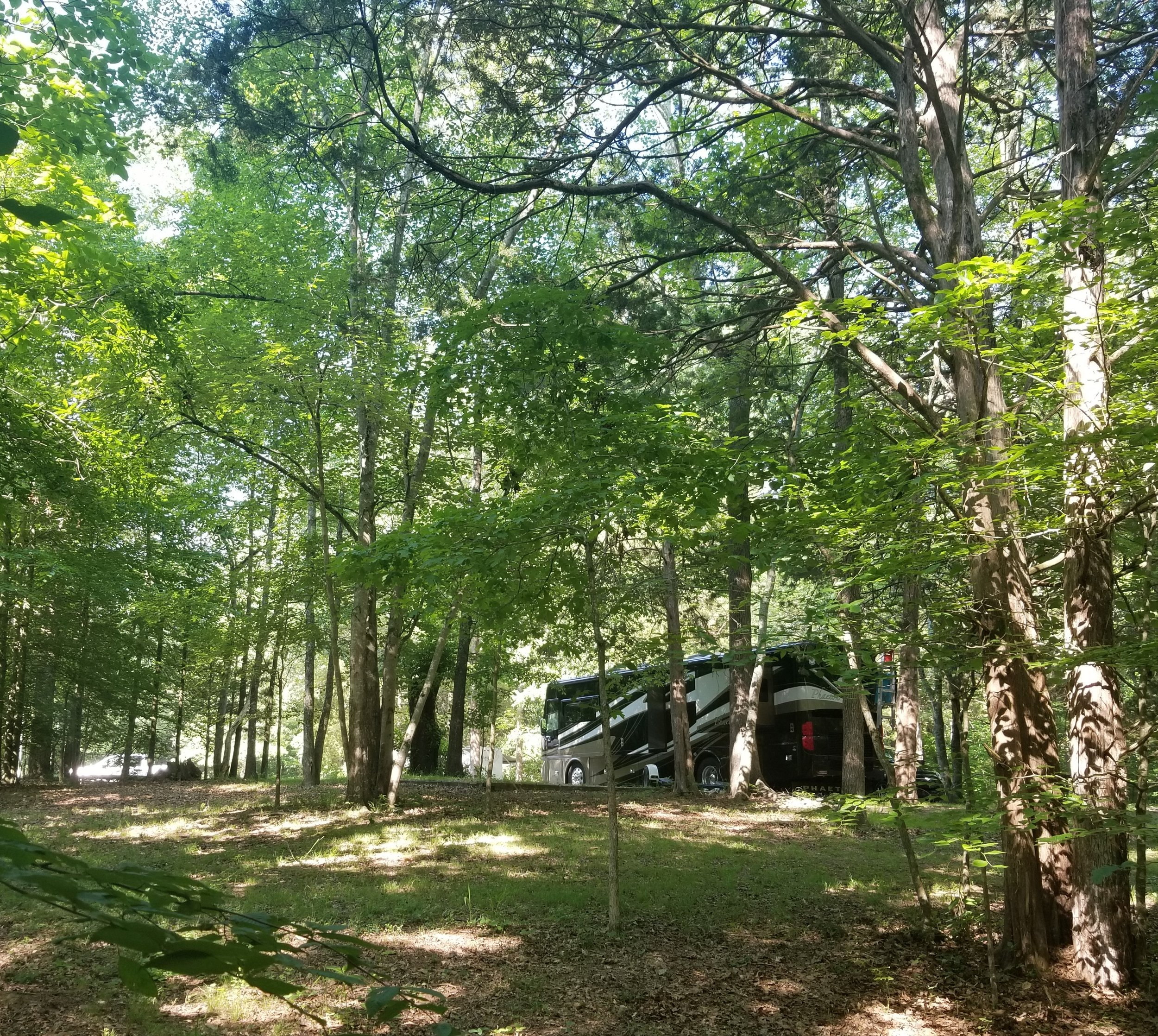 View of our motorhome from one of the hiking trails