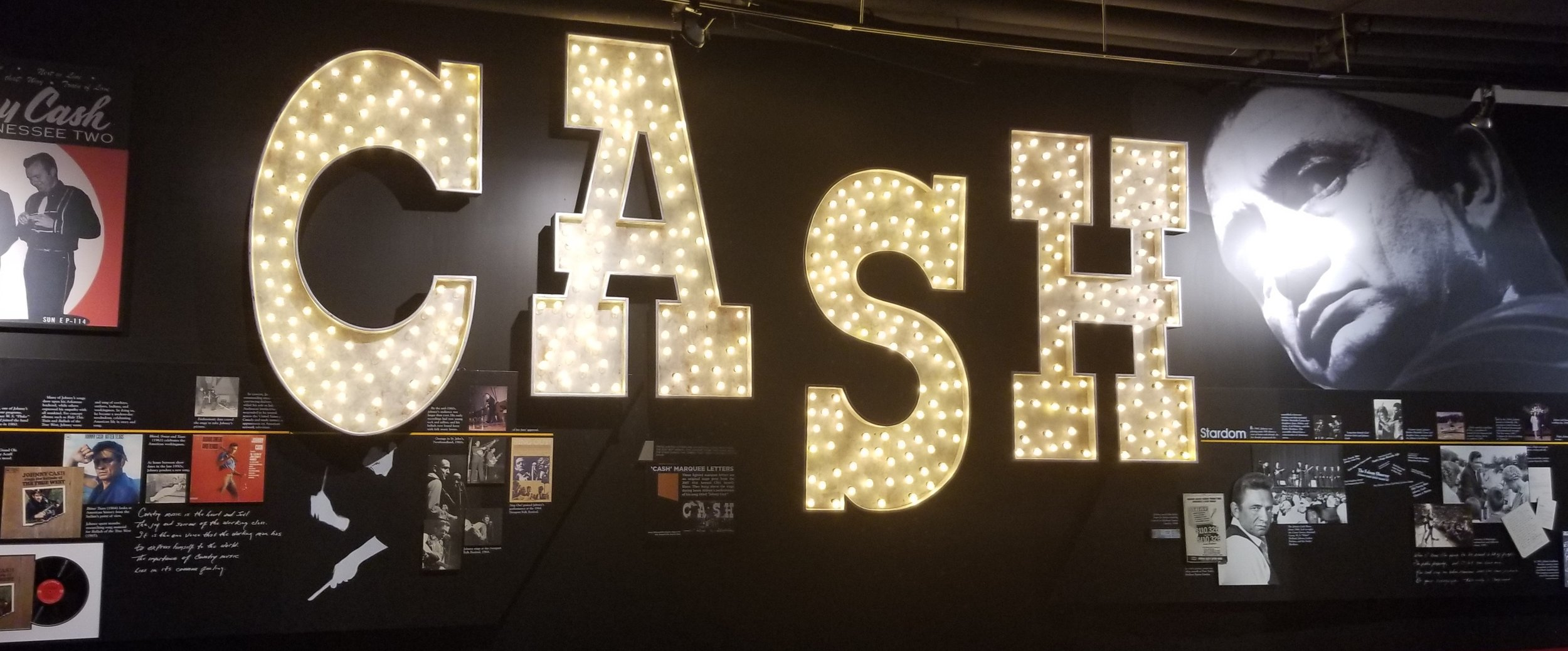 """""""These lighted letters are an original stage prop from the 2007 41st Annual CMA Award Show. They hung above the stage during the Johnny Cash tribute segment of the show"""""""