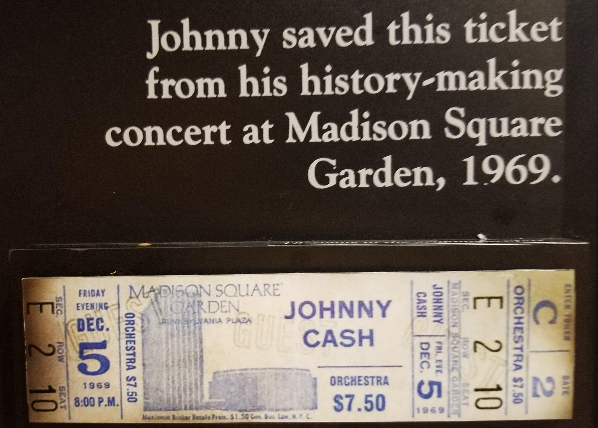 1969 Johnny Cash ticket