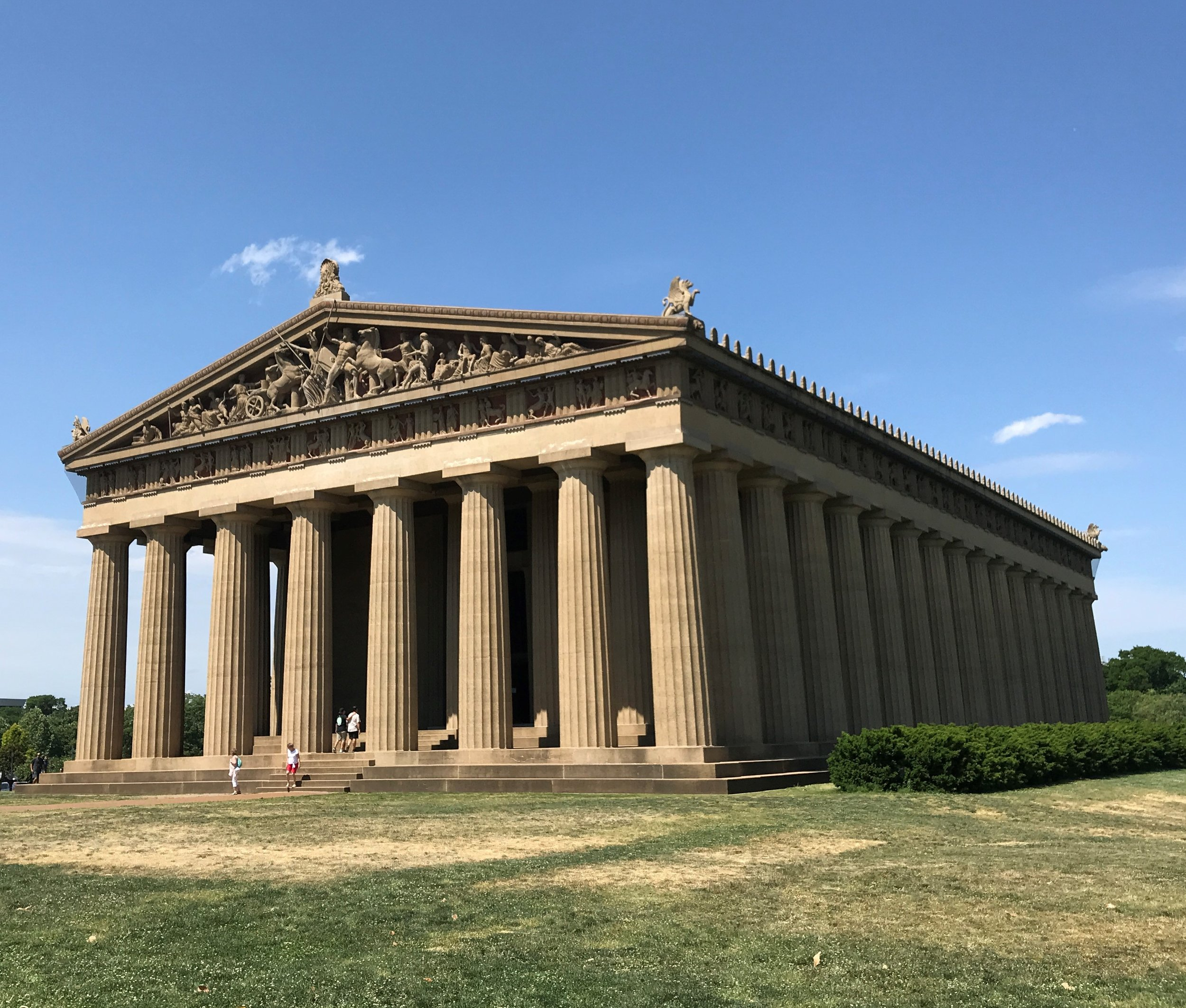 Nashville has its own Parthenon constructed over 100 yrs ago. It was built for Tennessee's 1897 Centennial Exposition