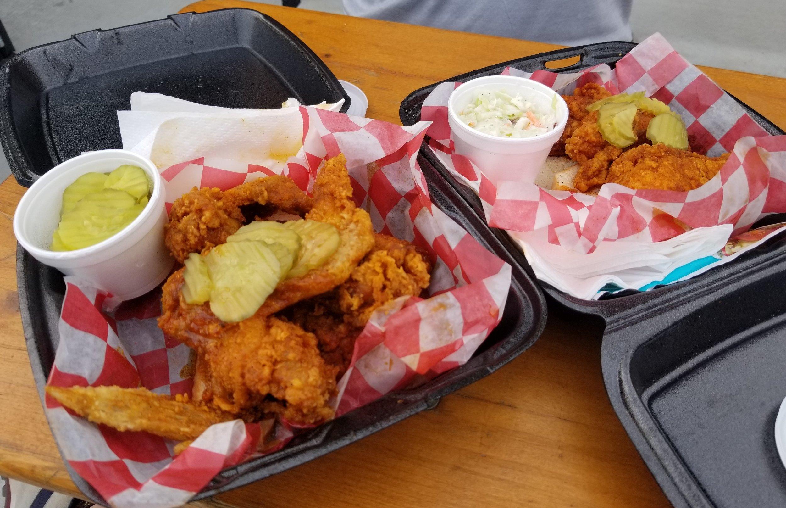 Nashville Hot Chicken from Prince's Hot Chicken. Yum!