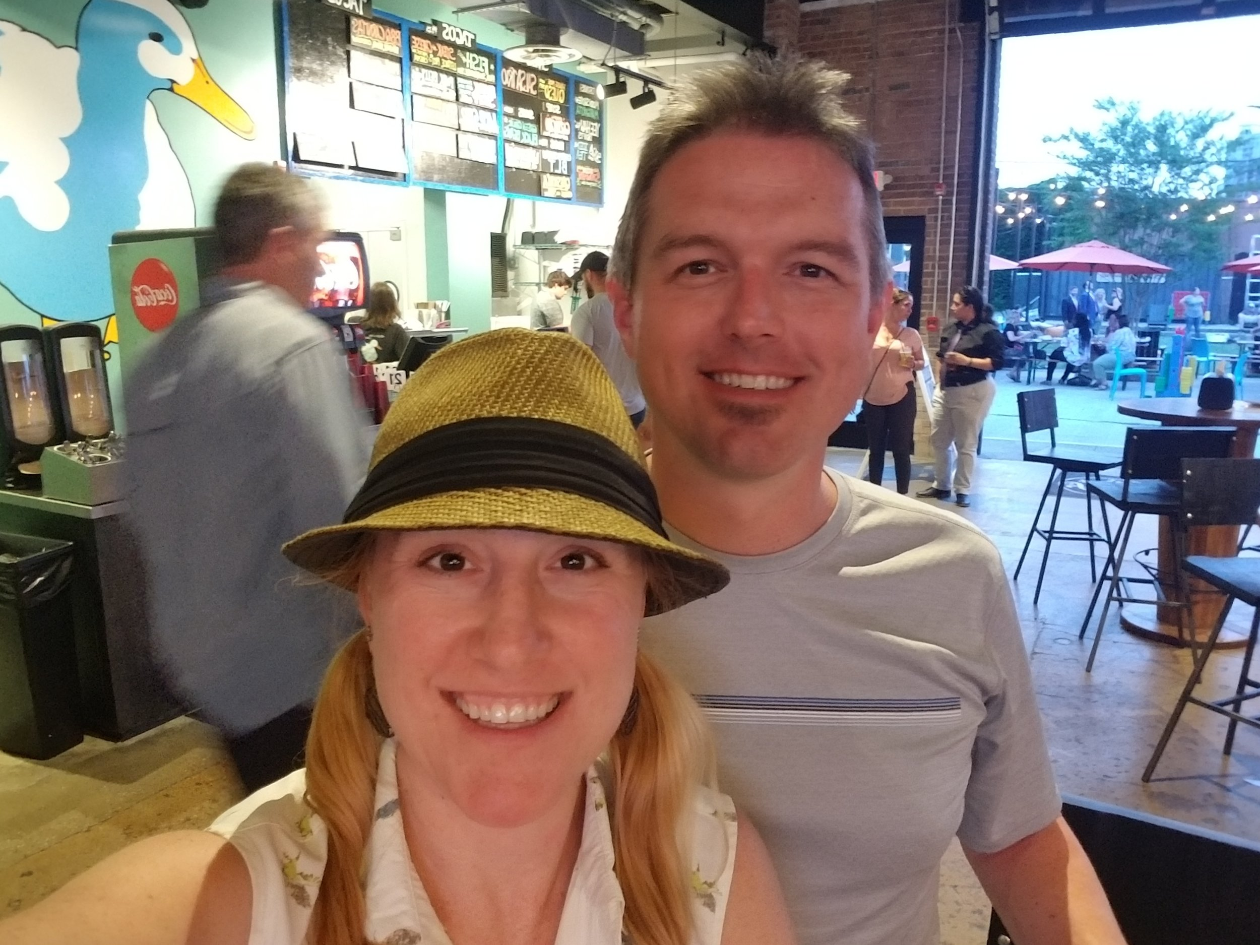 Selfie while we played Trivia at Yee-Haw Brewing Company which shared the building with Ole Smoky Distillery