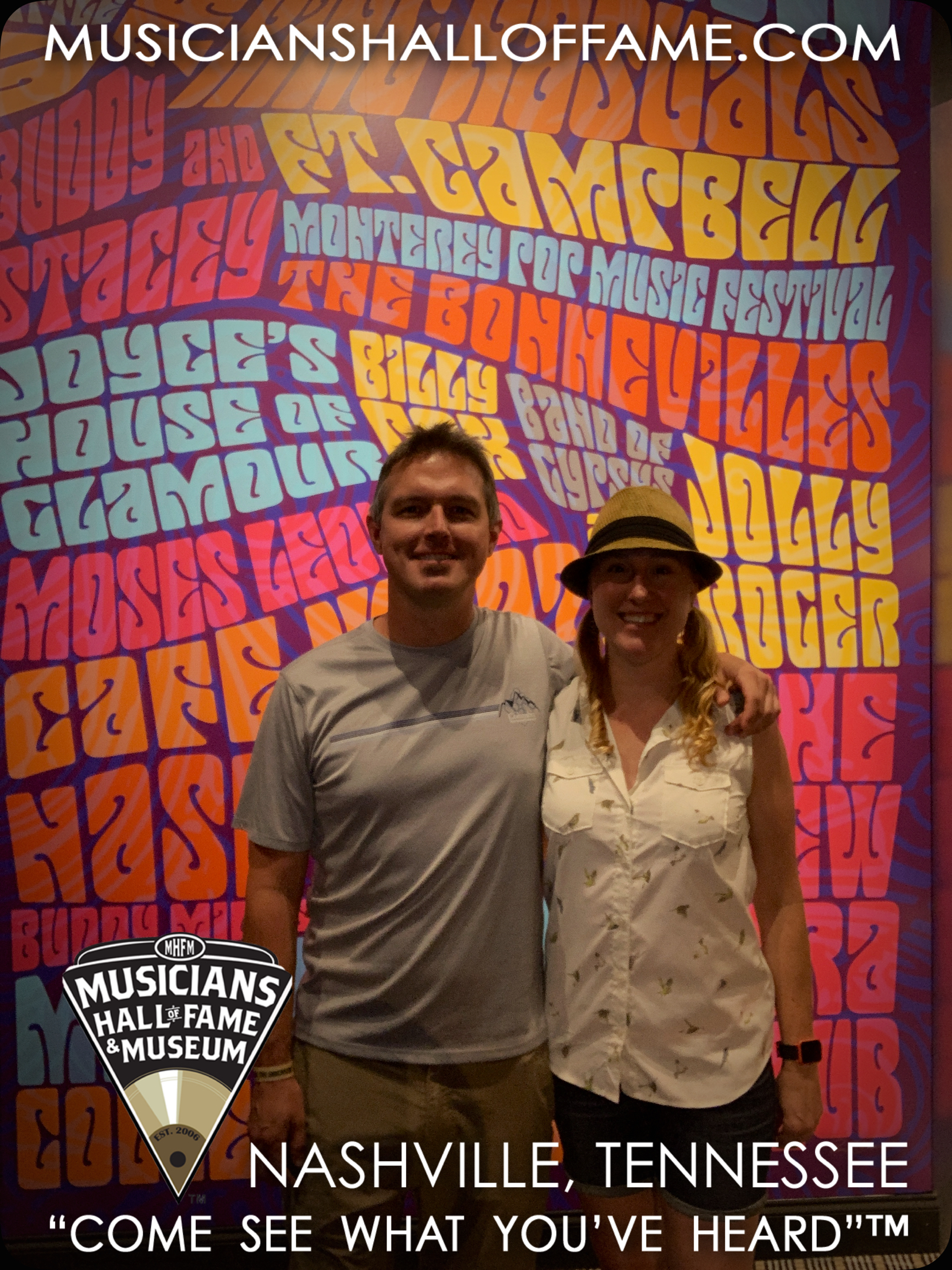 Us at the Musicians Hall of Fame & Museum