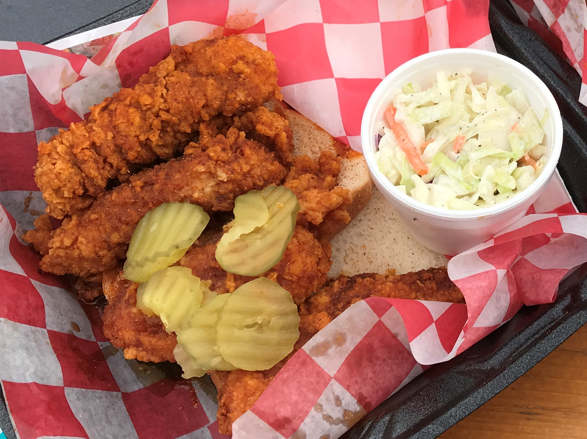 Chicken Tenders with Cole Slaw