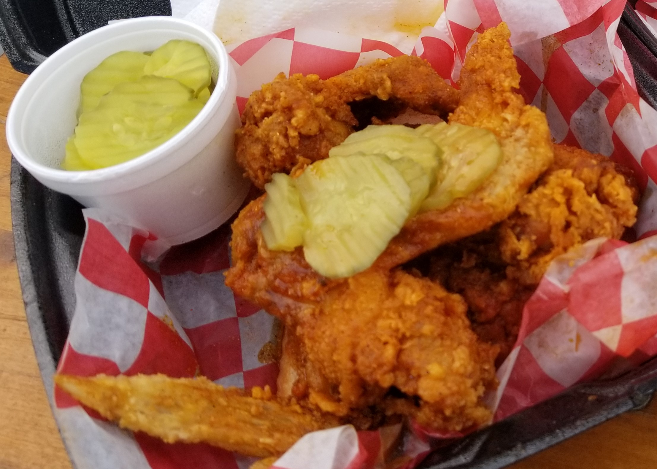 Chicken Wings with Pickles