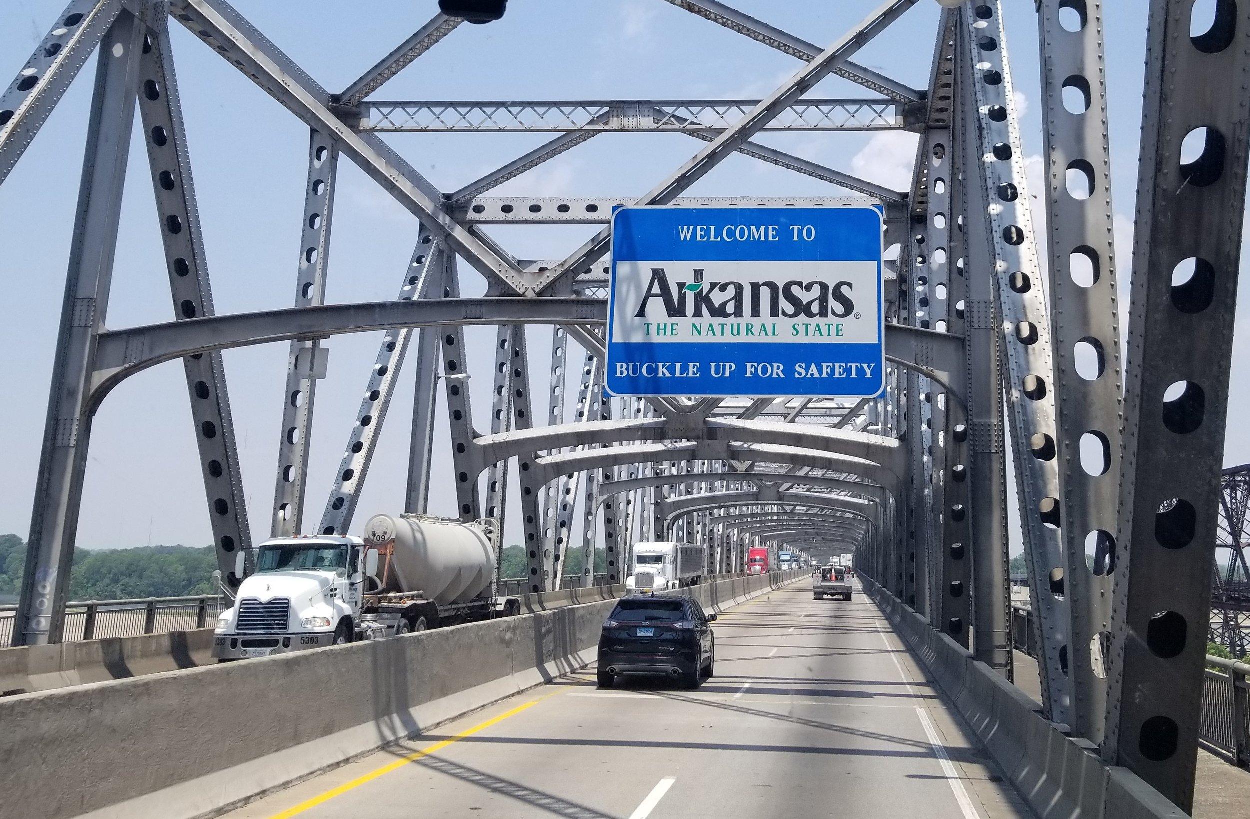 Driving into Arkansas