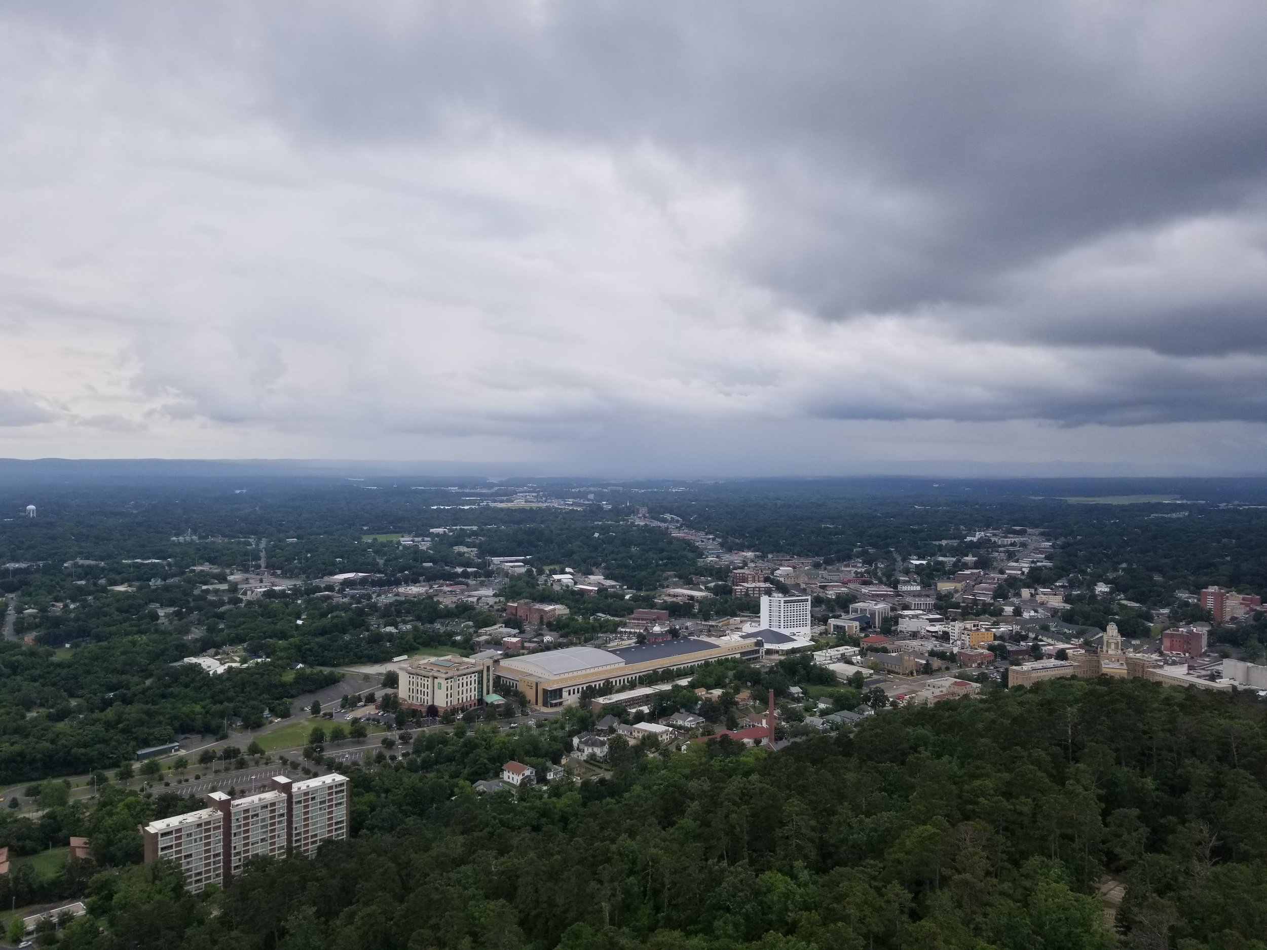 View of downtown Hot Springs from the top of Mountain Tower