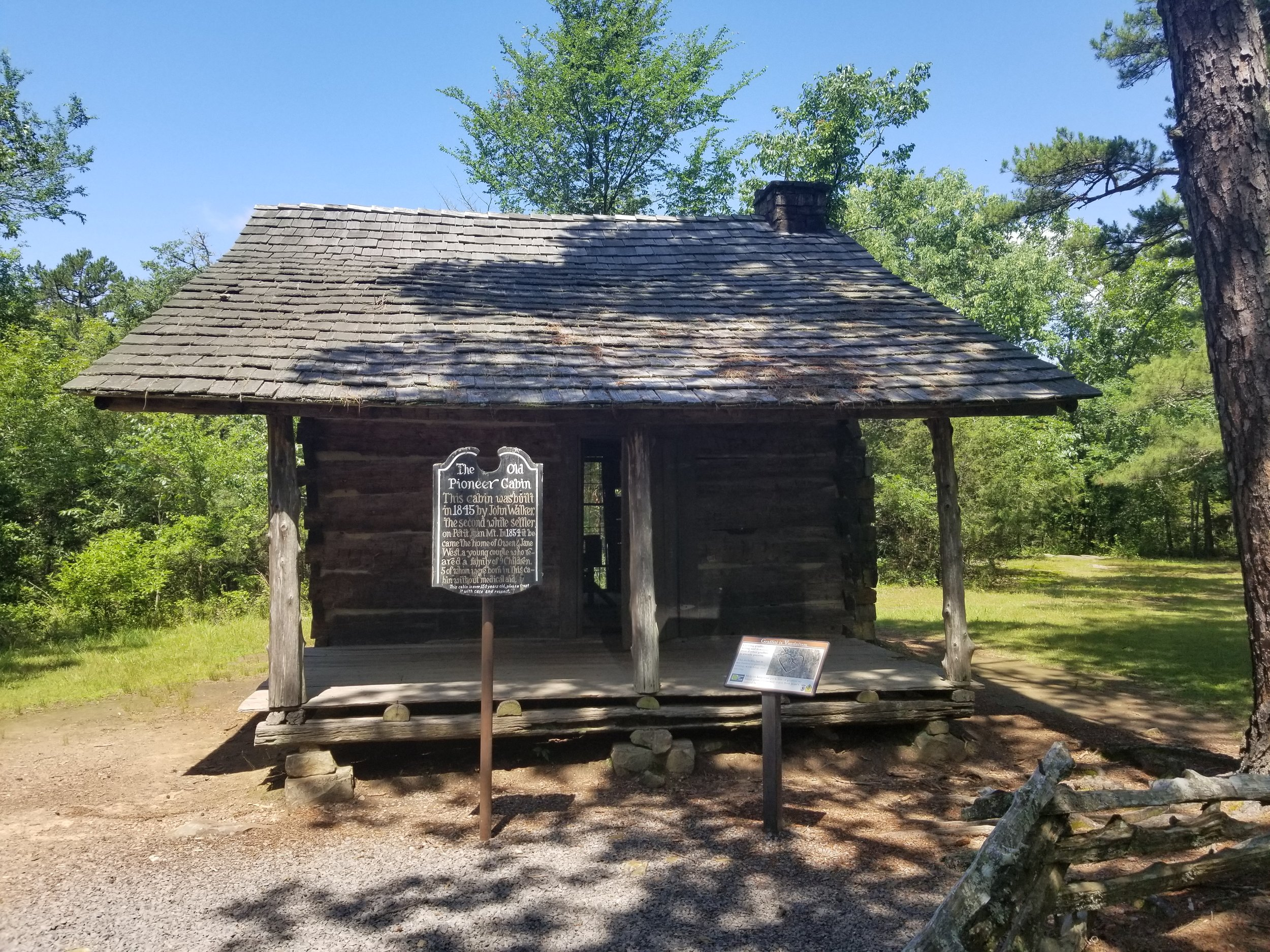 The Old Pioneer Cabin - This cabin was built in 1845