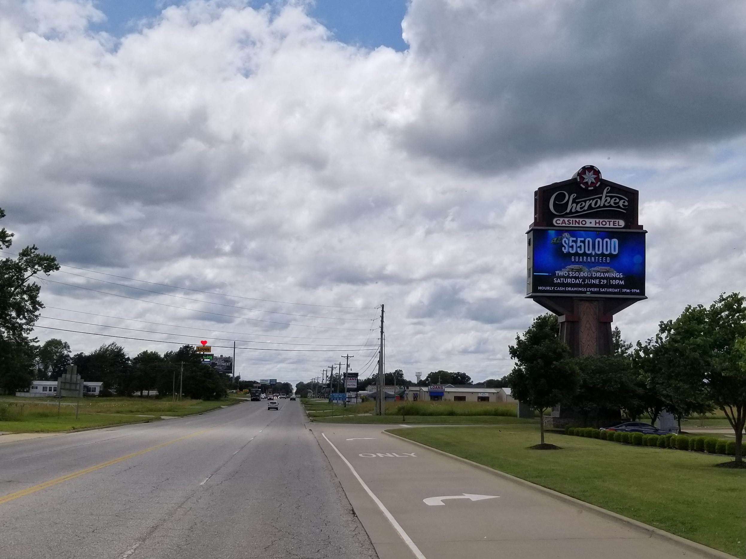 Cherokee Casino on the Oklahoma and Arkansas border