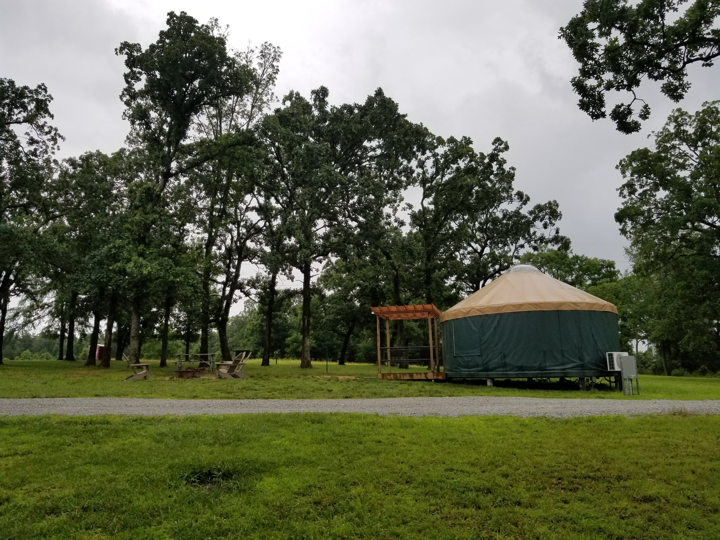 This state park also has Yurts you can rent