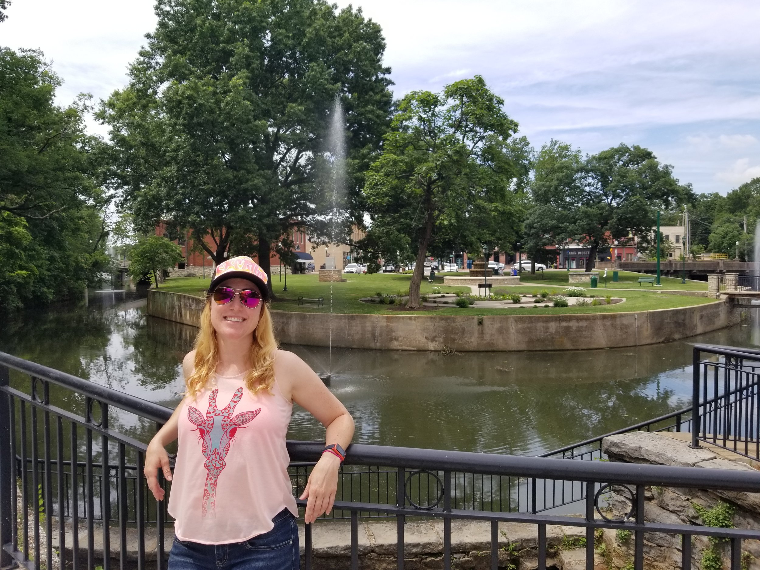 Twin Springs Park in downtown Siloam Springs